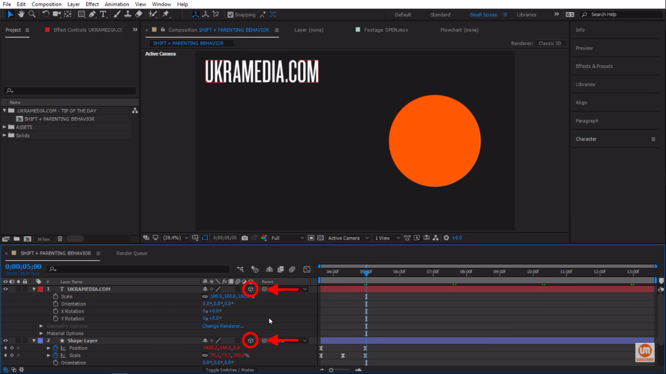 3D layers in After Effects