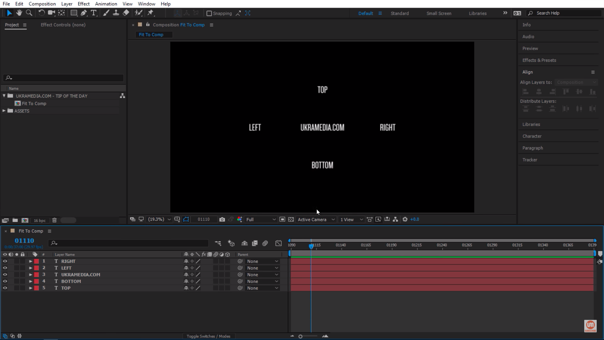4k Composition settings in Adobe After Effects