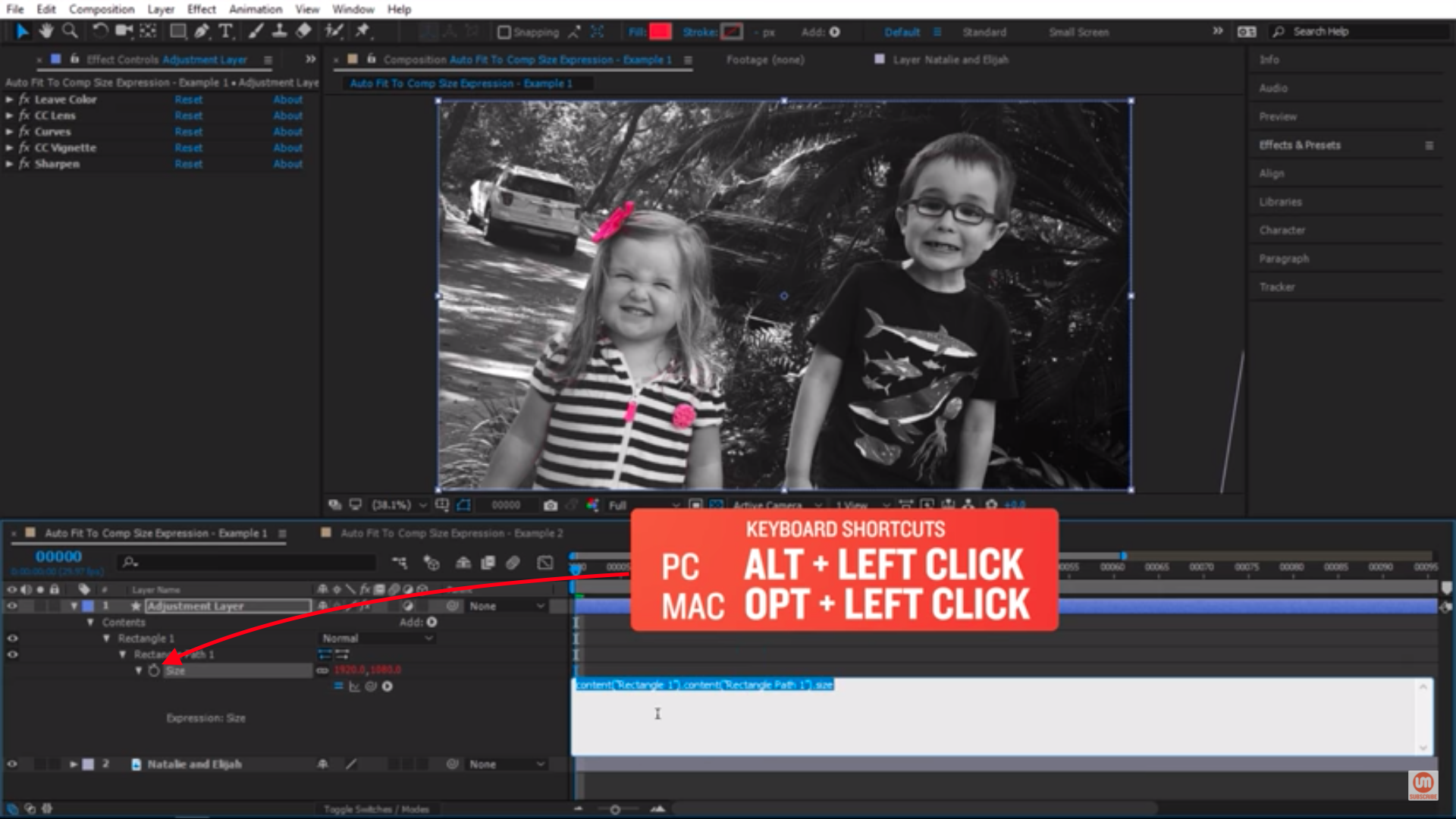 Activate Expression in After Effects