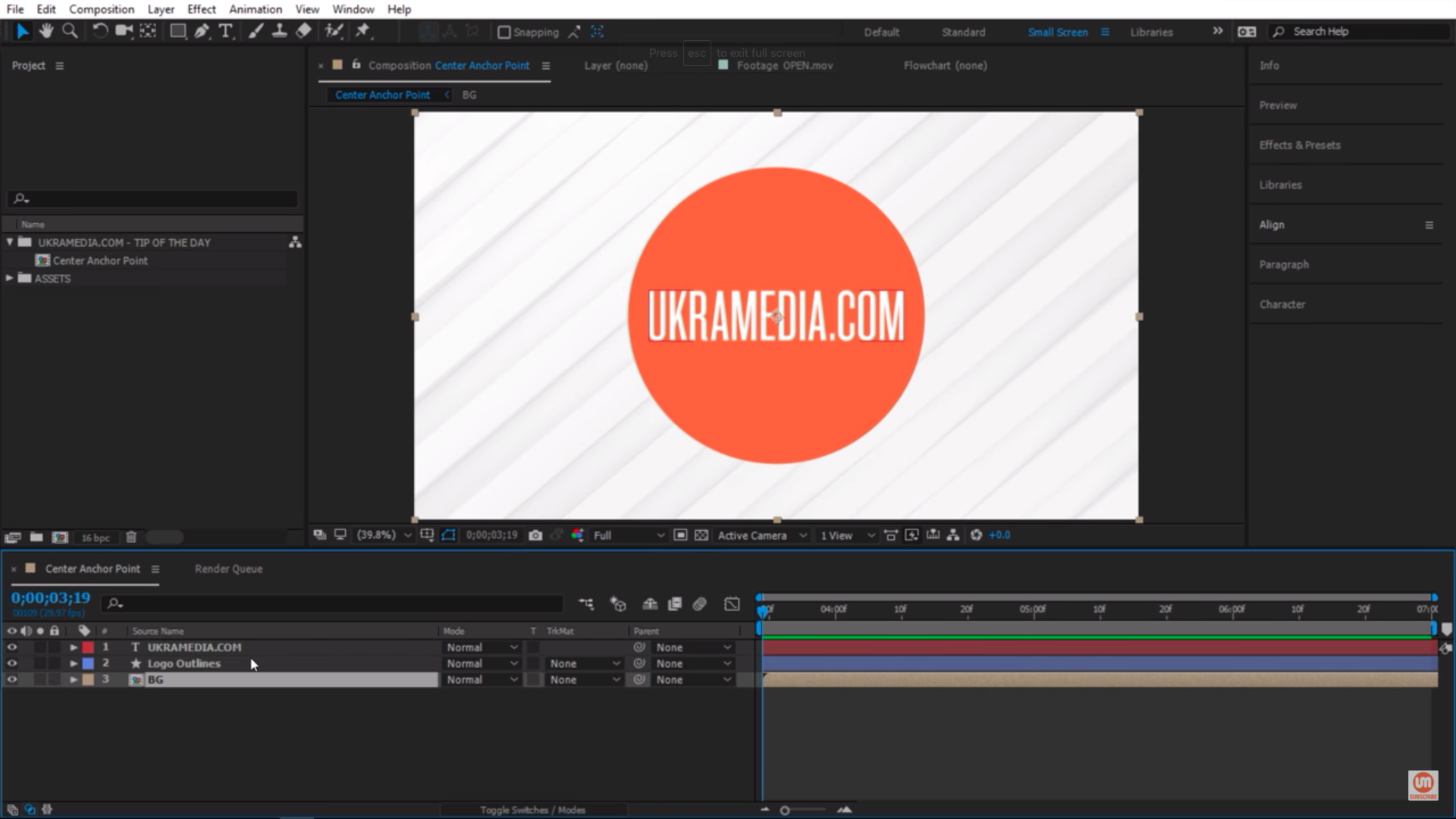 After Effects Simple Set up