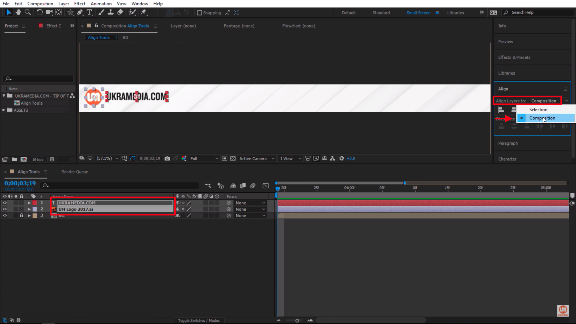 Align Layers to Composition in After Effects