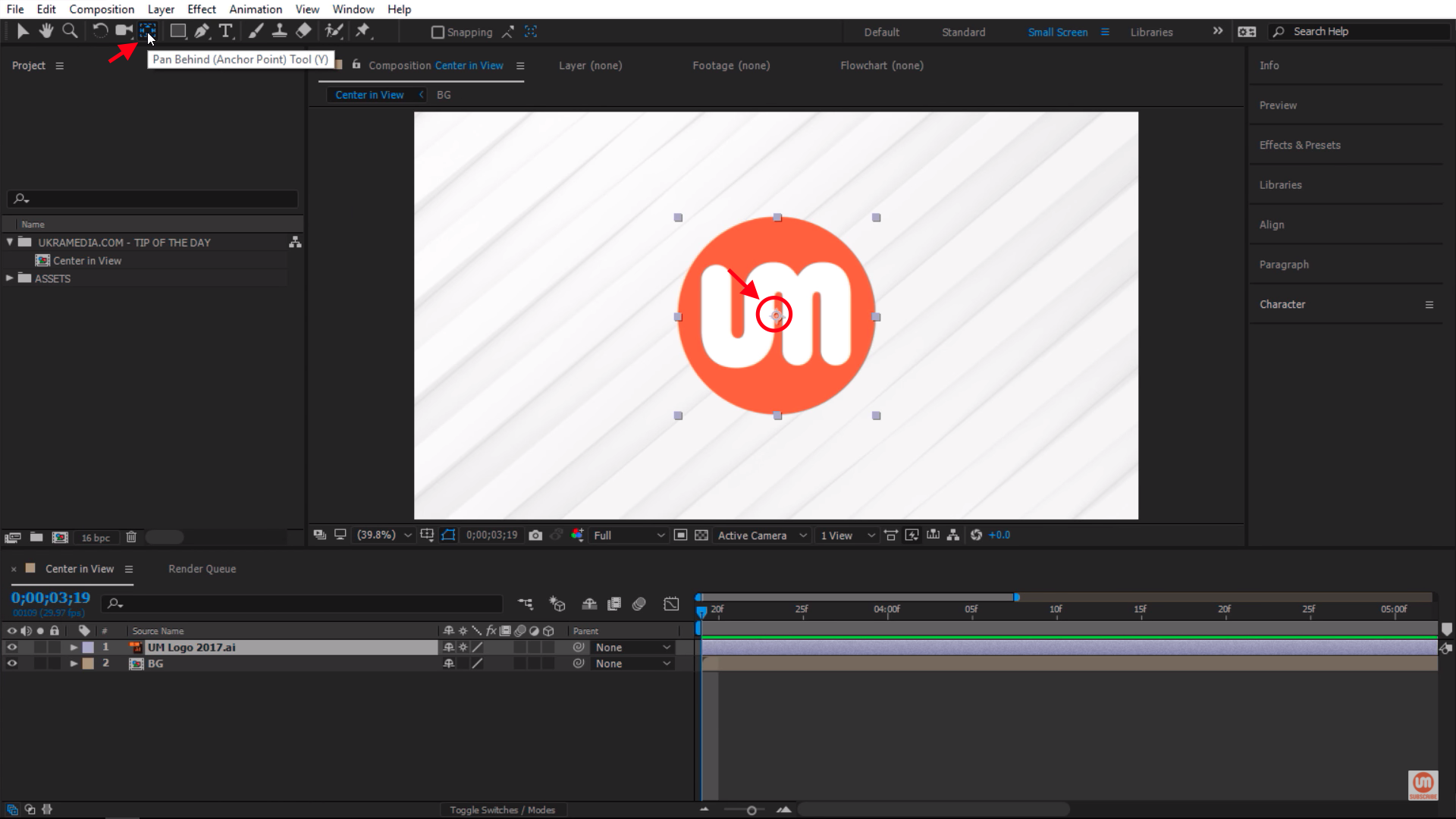 Centering Anchor Point in After Effects