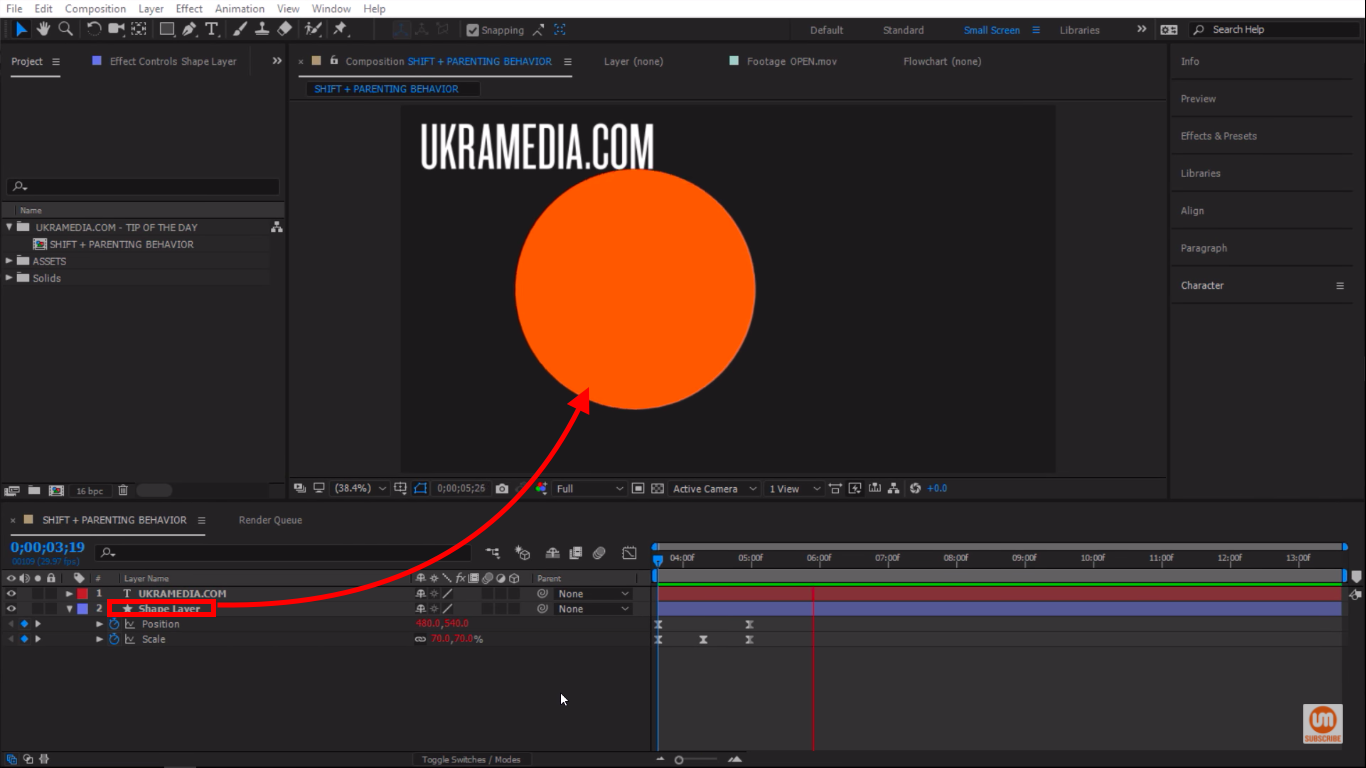 Circular Shape Layer After Effects