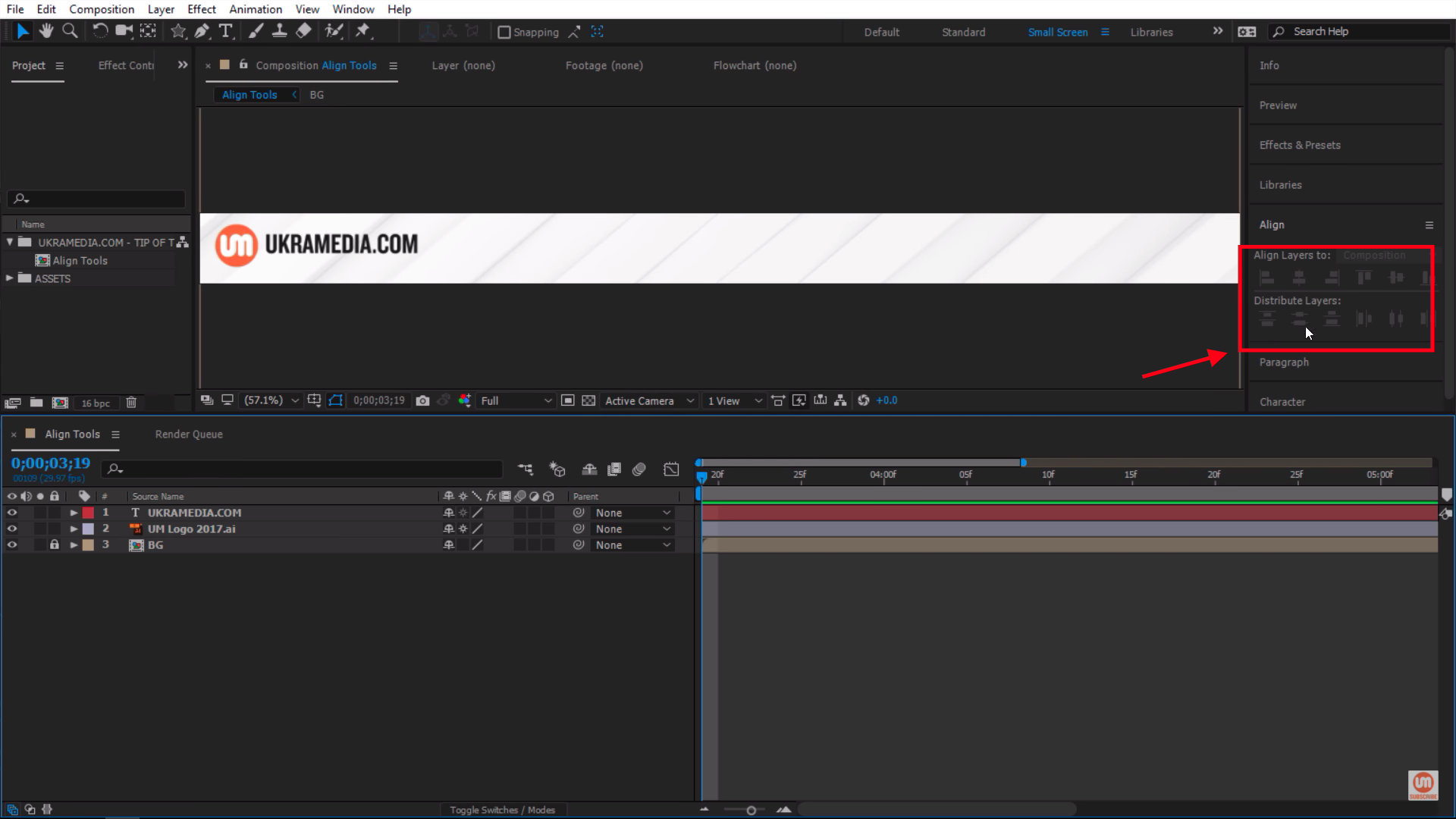 Disabled Tool panel in After Effects