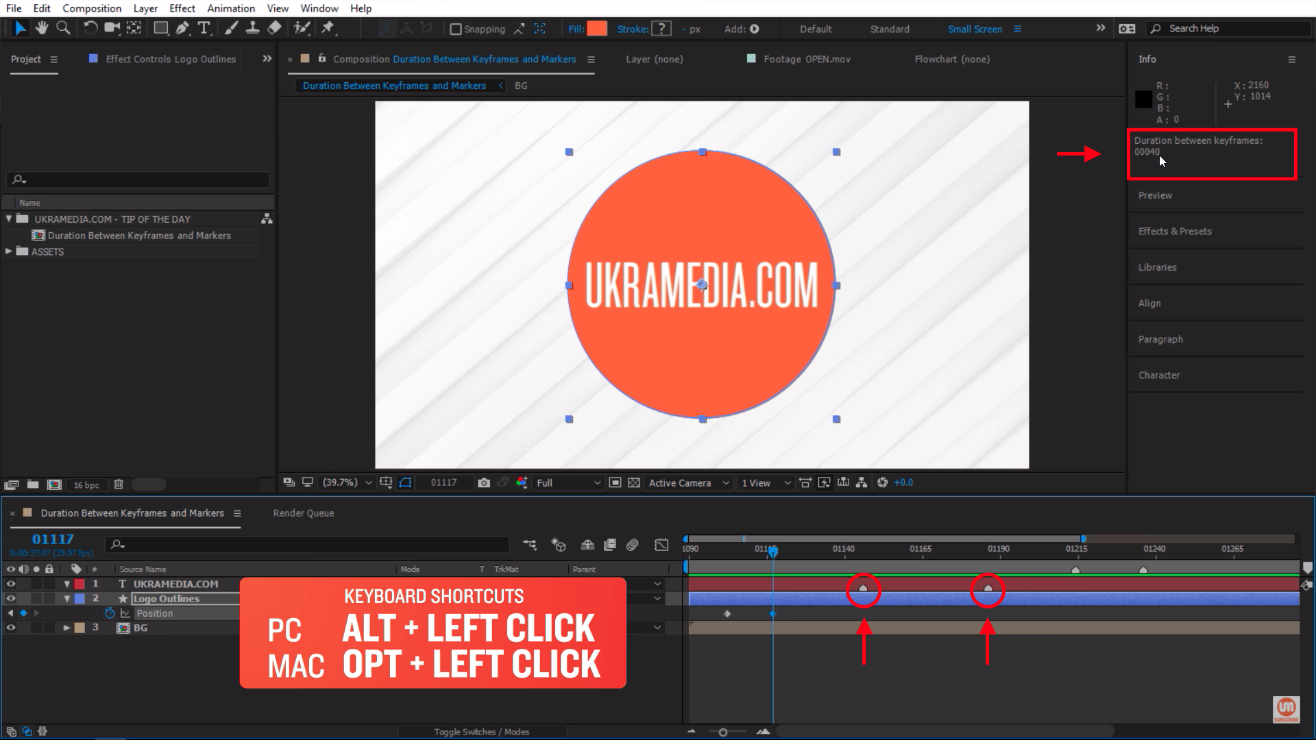 Duration Between Two Markers in After Effects
