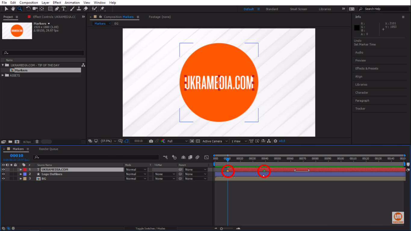 Final result in Adobe After Effects