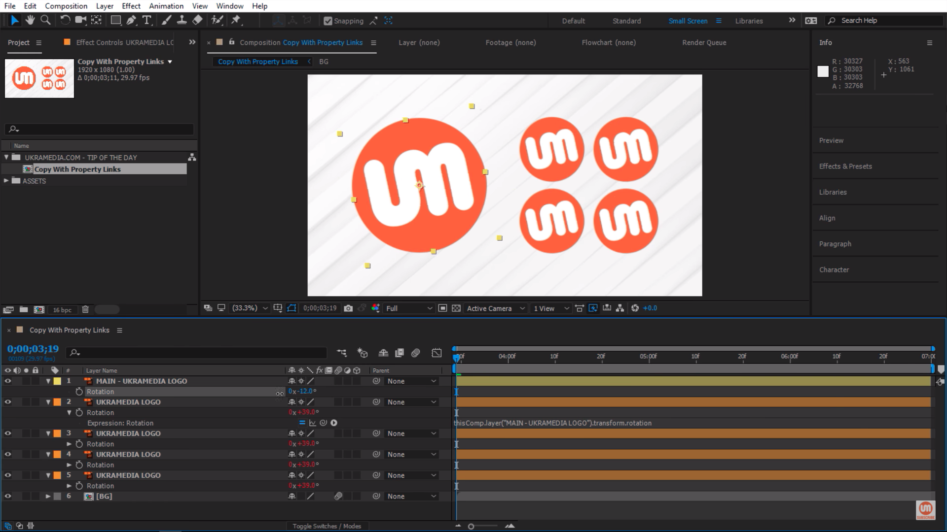Logos moving together in After Effects