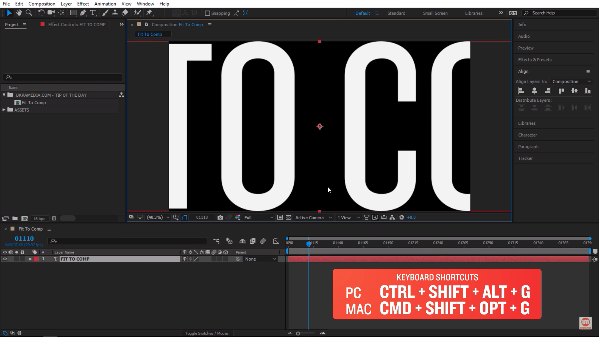Maintain Height fit to comp After Effects