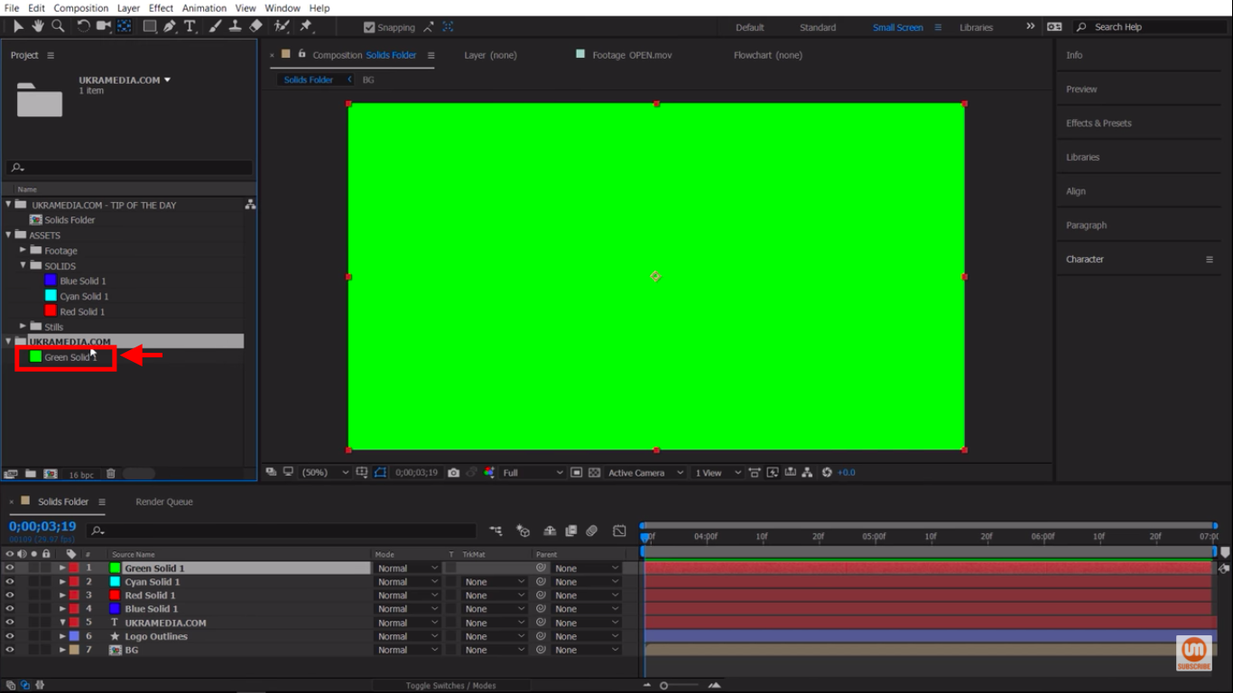 Nested Solid After Effects