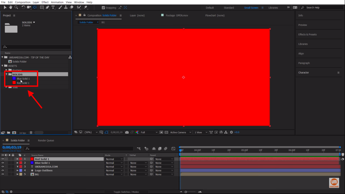 Nesting Folders in After Effects