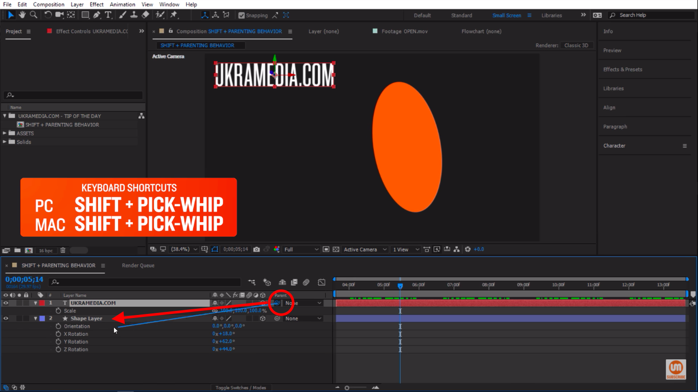 Pick-whip to Shape Layer in After Effects