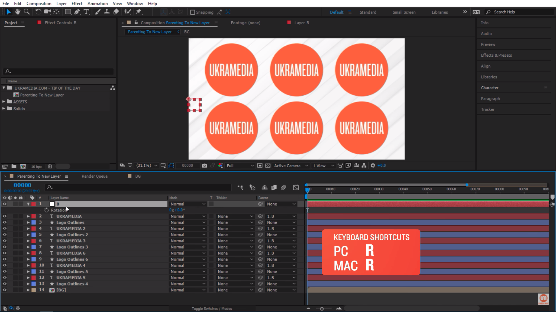 Rotation Property After Effects