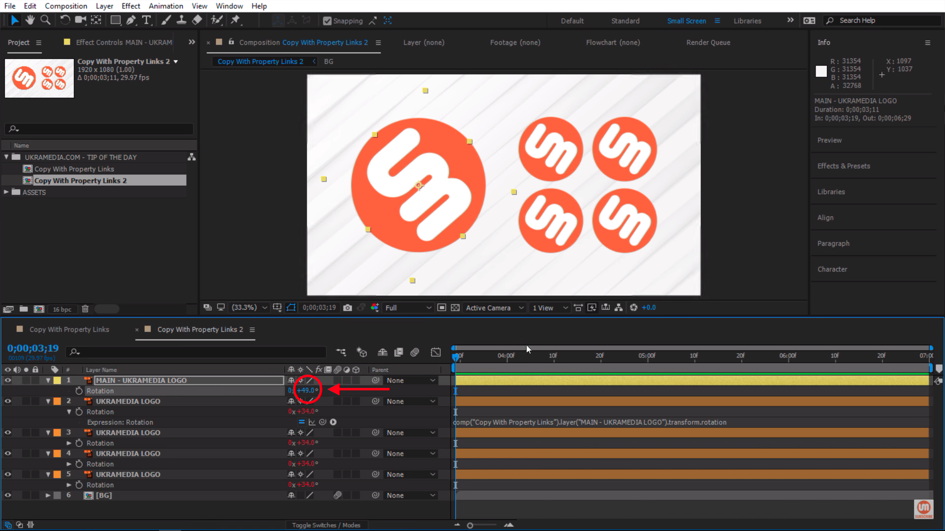 Rotation Property in Adobe After Effects