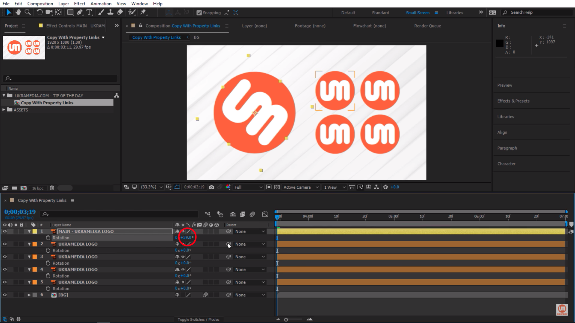 Rotation Property in After Effects