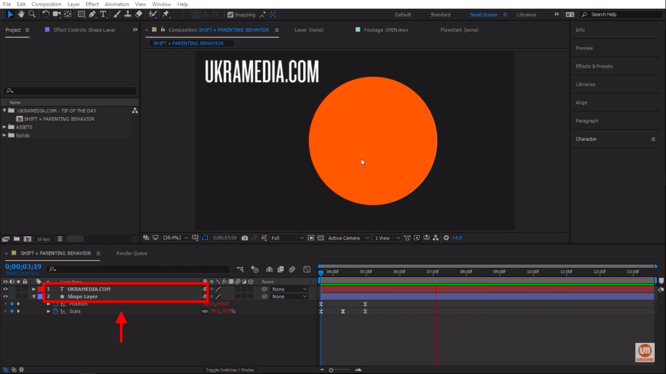 Simple After Effects Set up