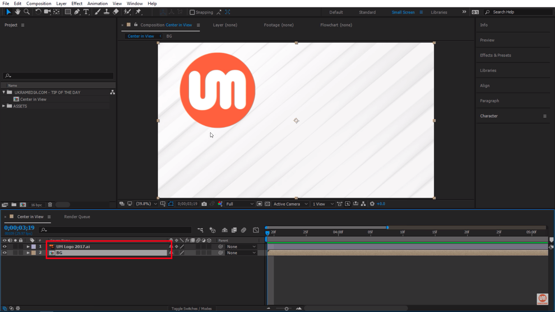 Simple After Effects Setup