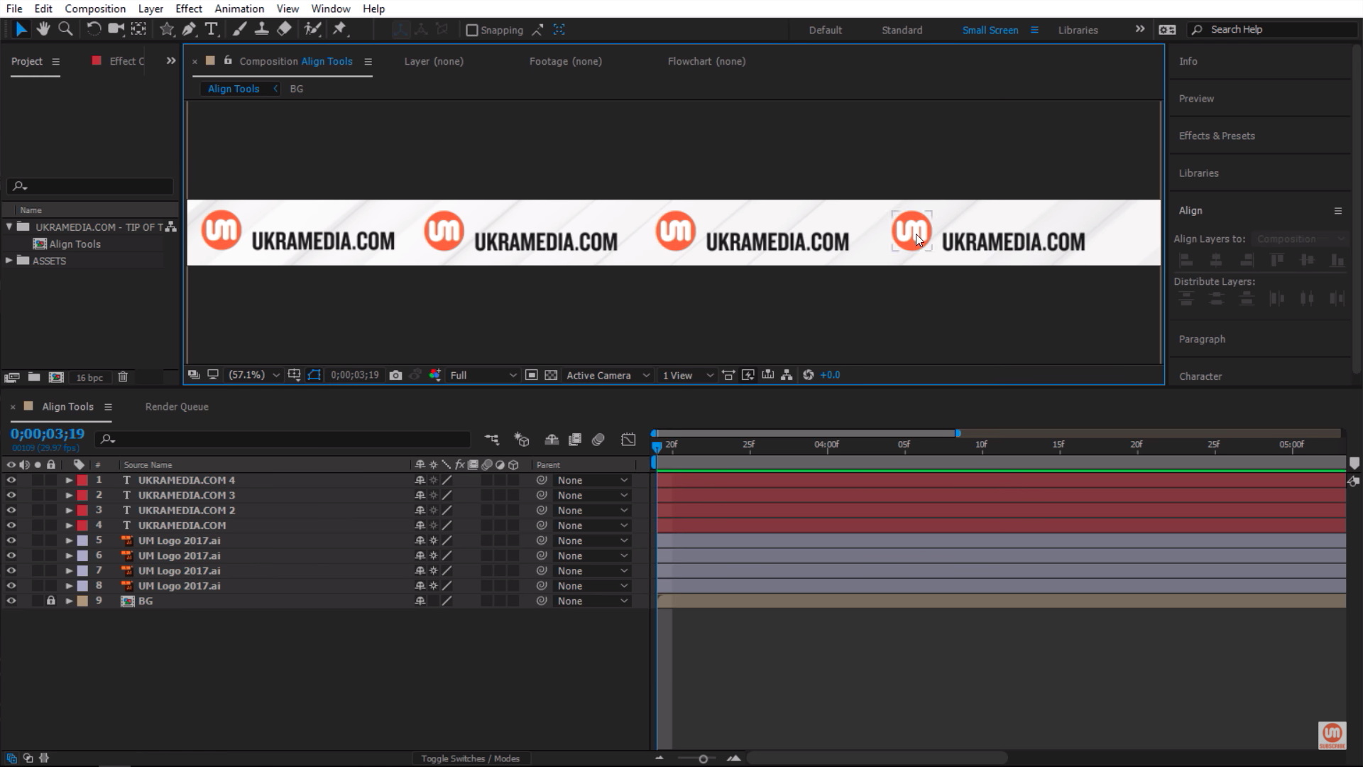 Spreading Logos on a strip in After Effects