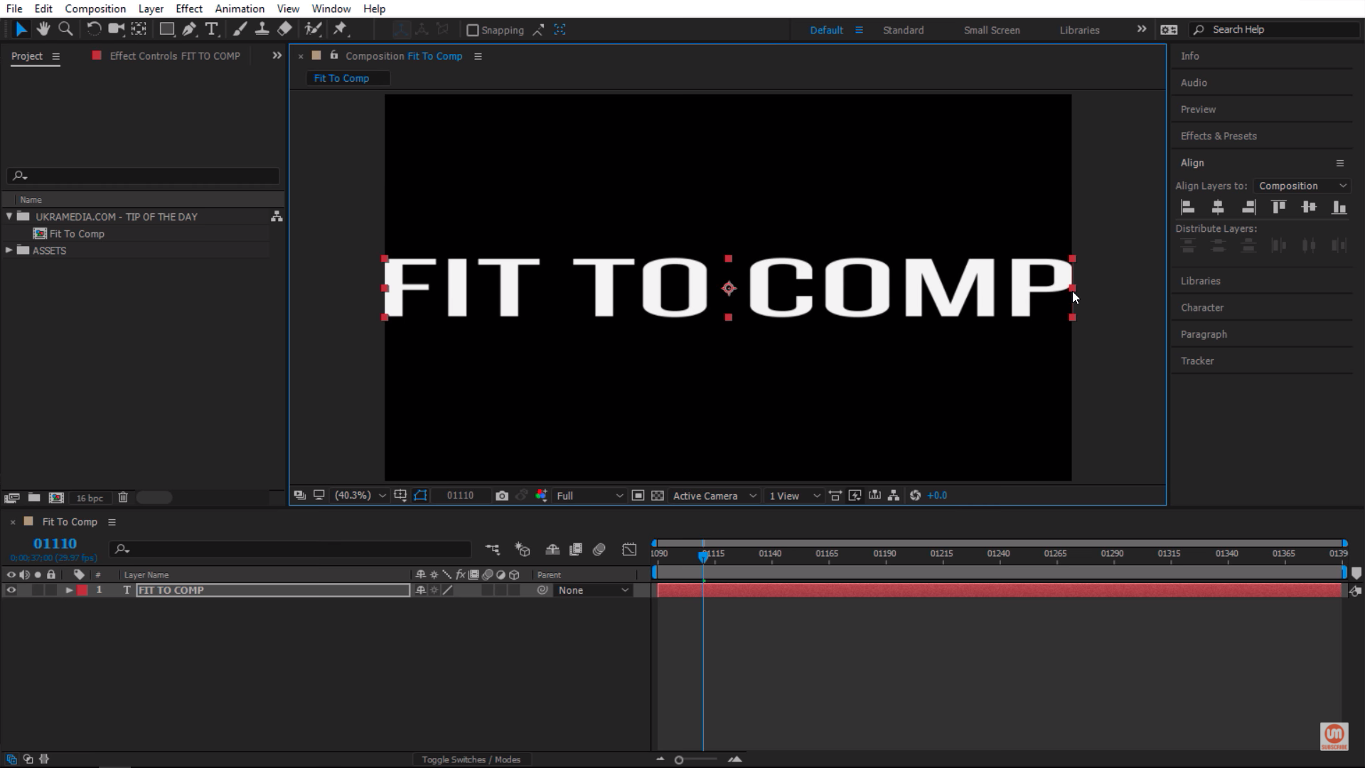 Stretching a logo in Adobe After Effects