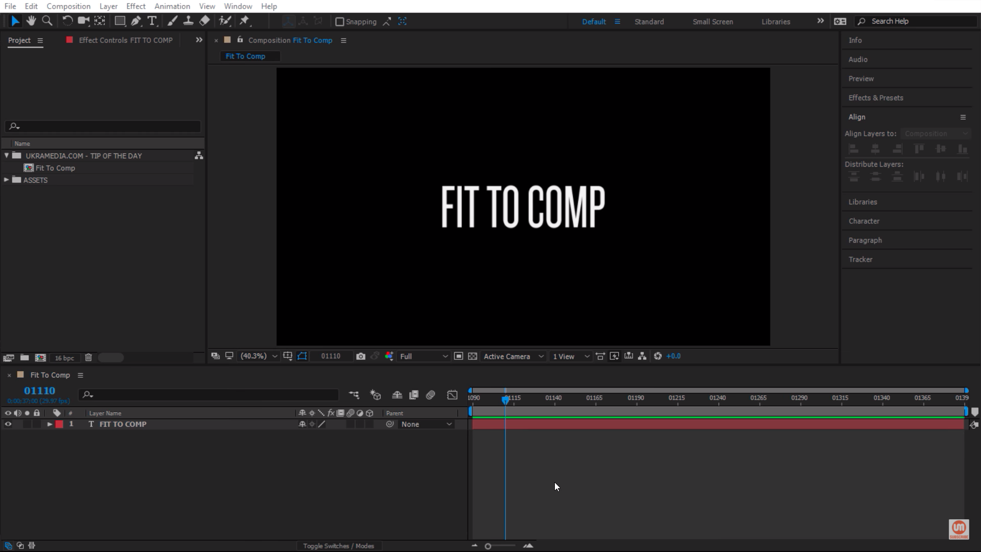 Text Layer in Adobe After Effects
