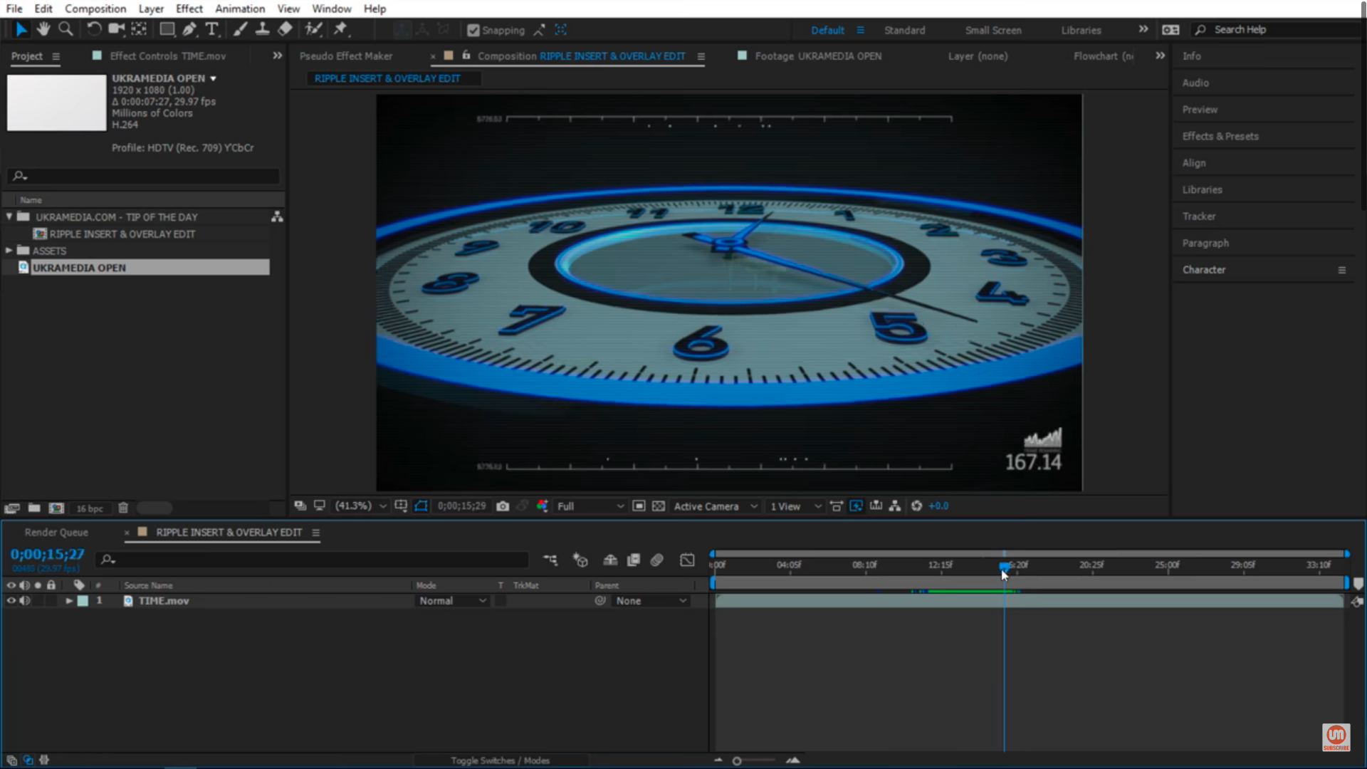 Clock animation Adobe After Effects