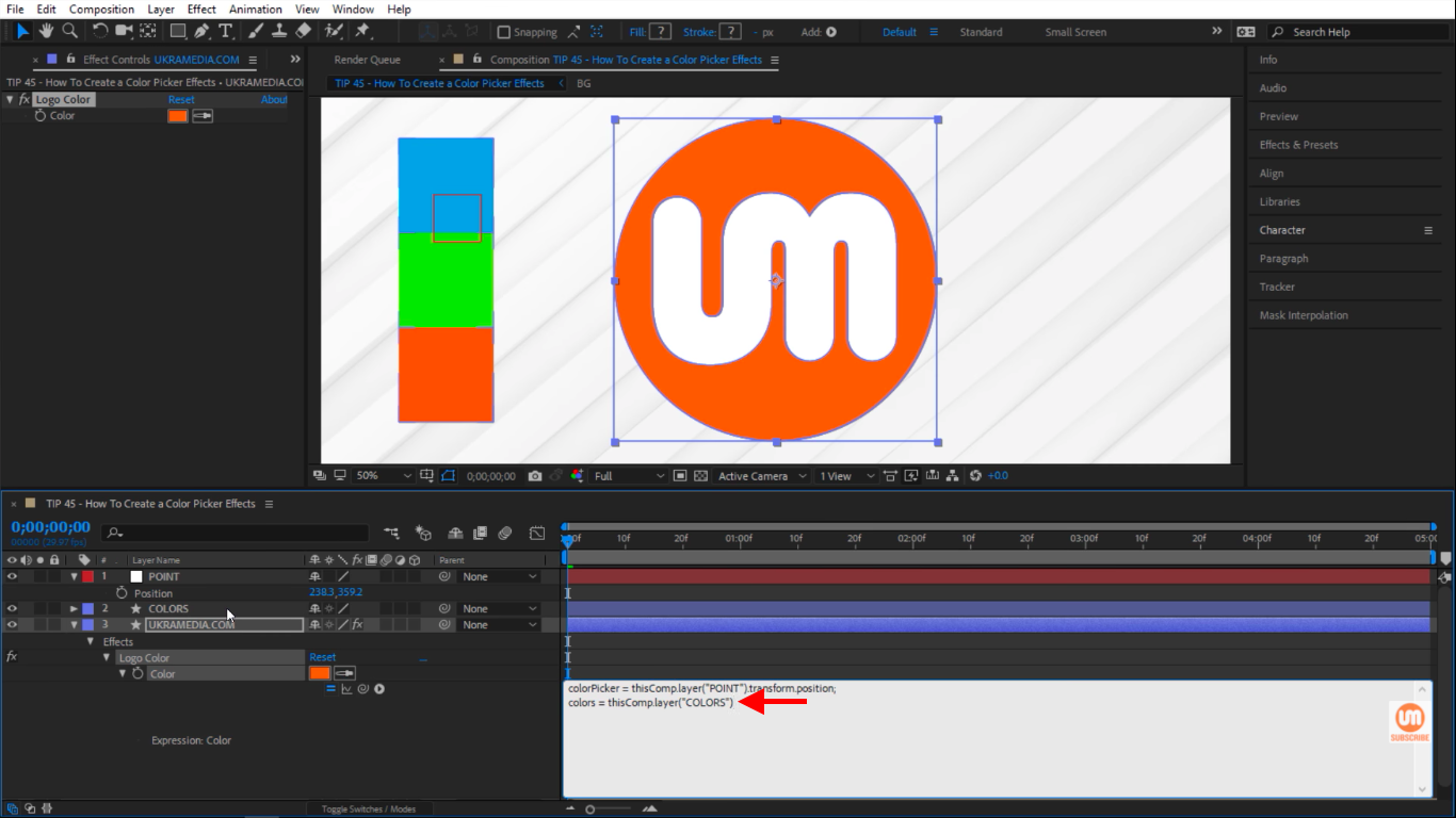 Color Shape layer in Adobe After Effects