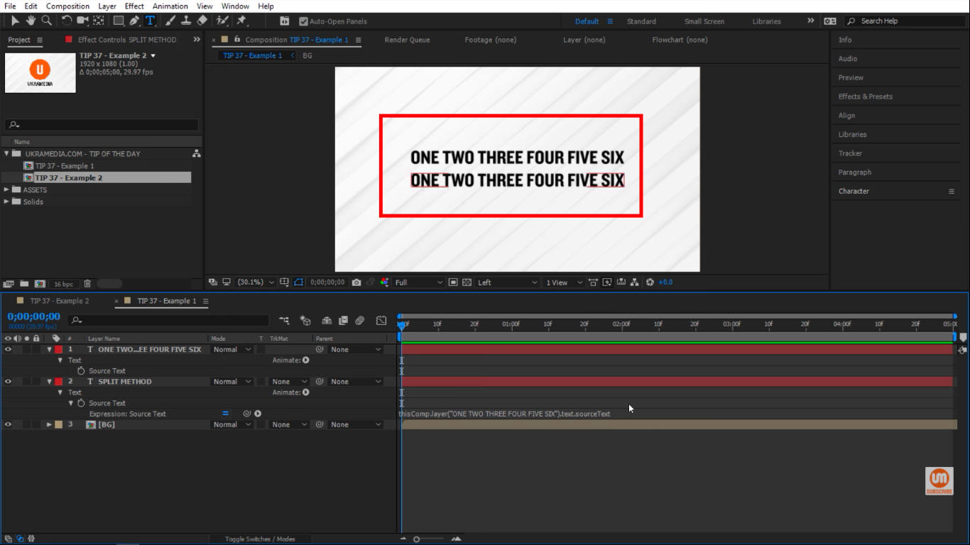 Coping text with pick whip in After Effects