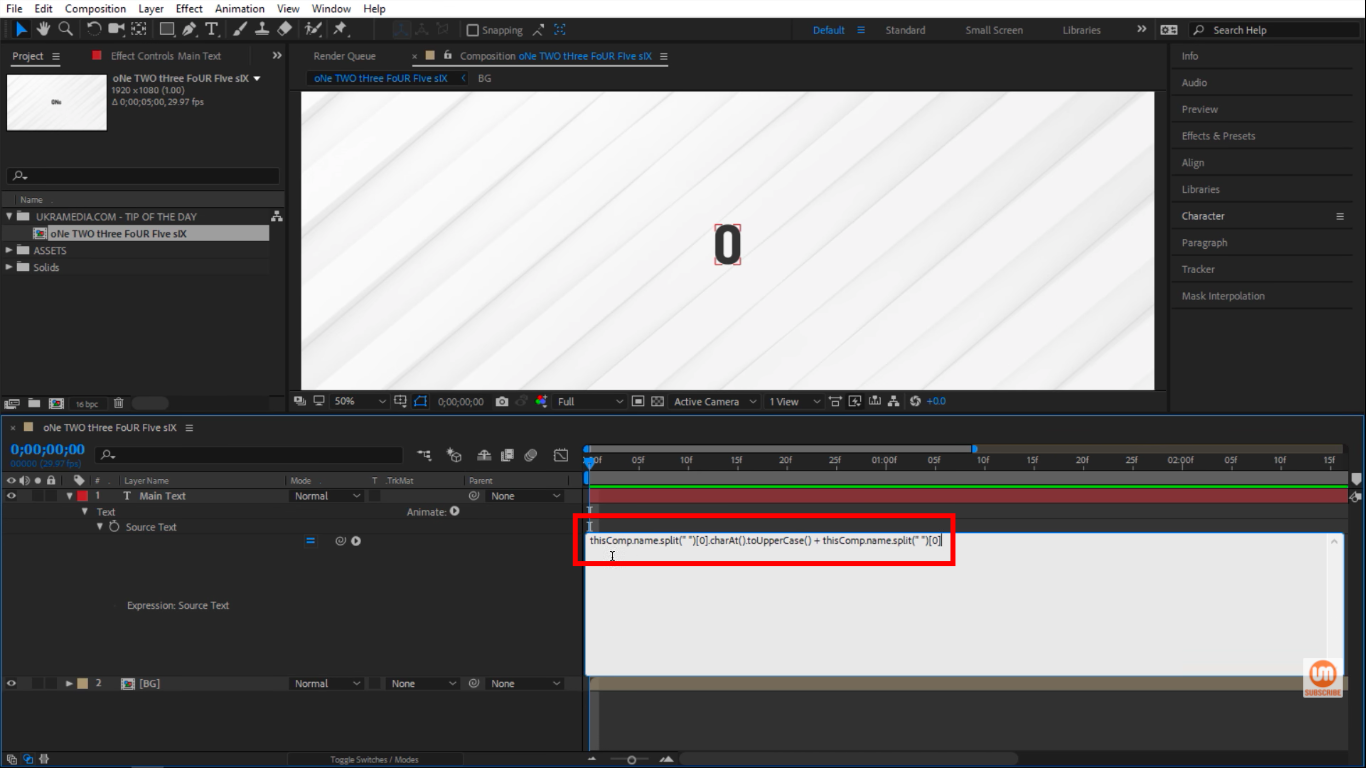 Copy and paste Expression in After Effects