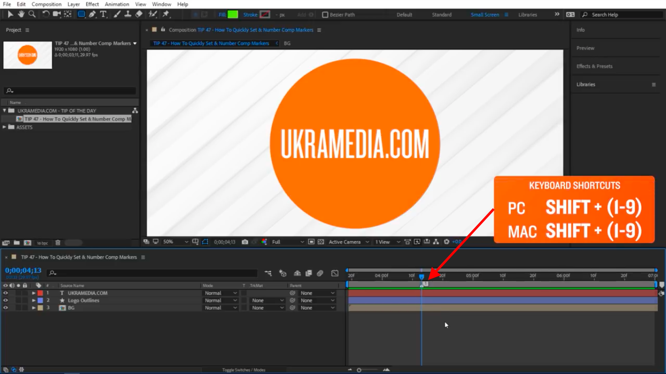 Create your first marker in After Effects