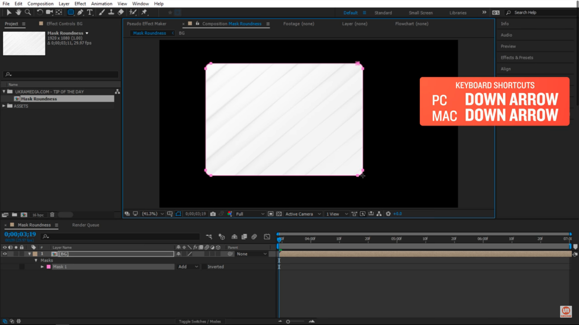 Decrease Shape Layer Roundness in After Effects