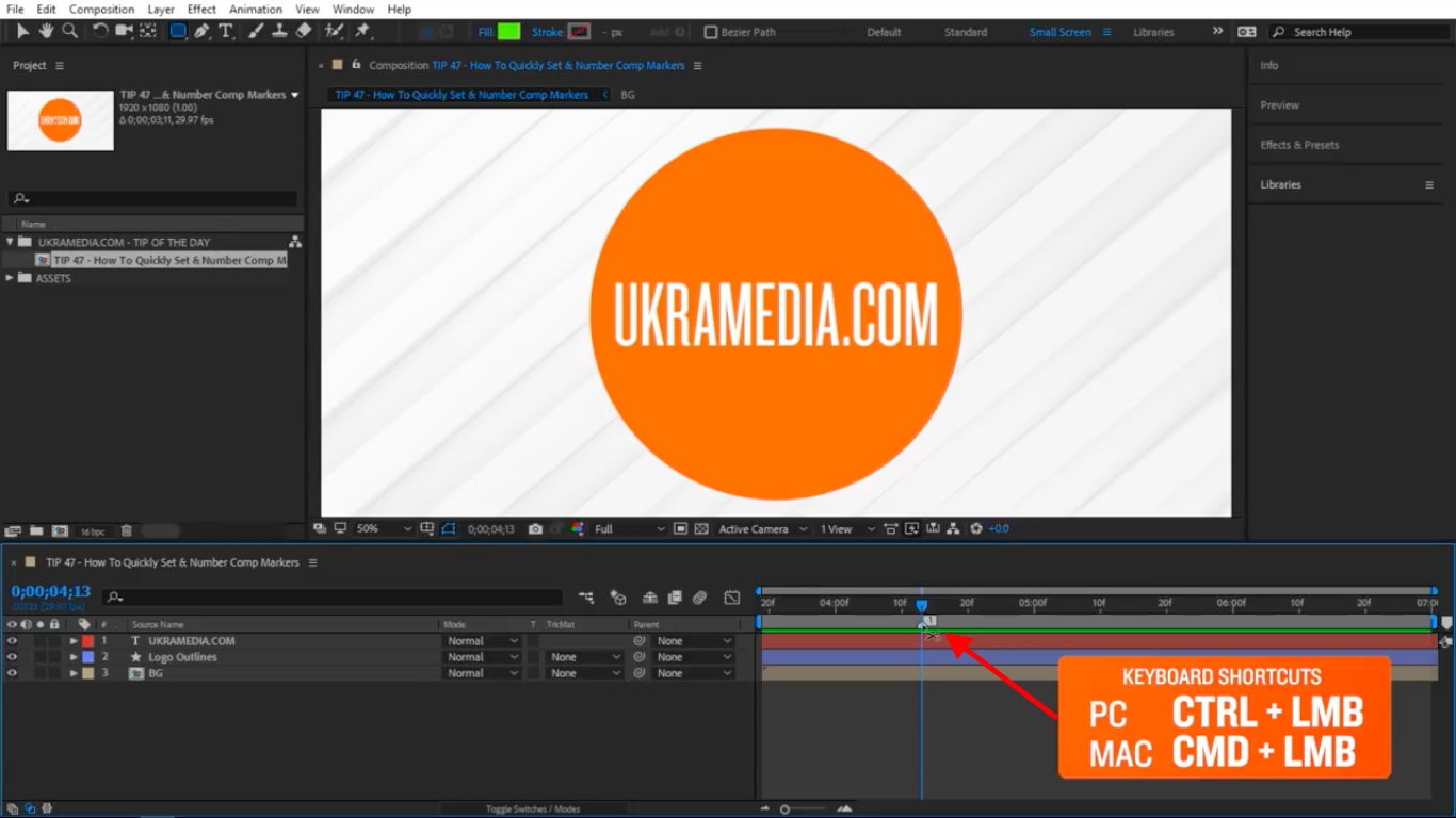 Delete Marker in After Effects