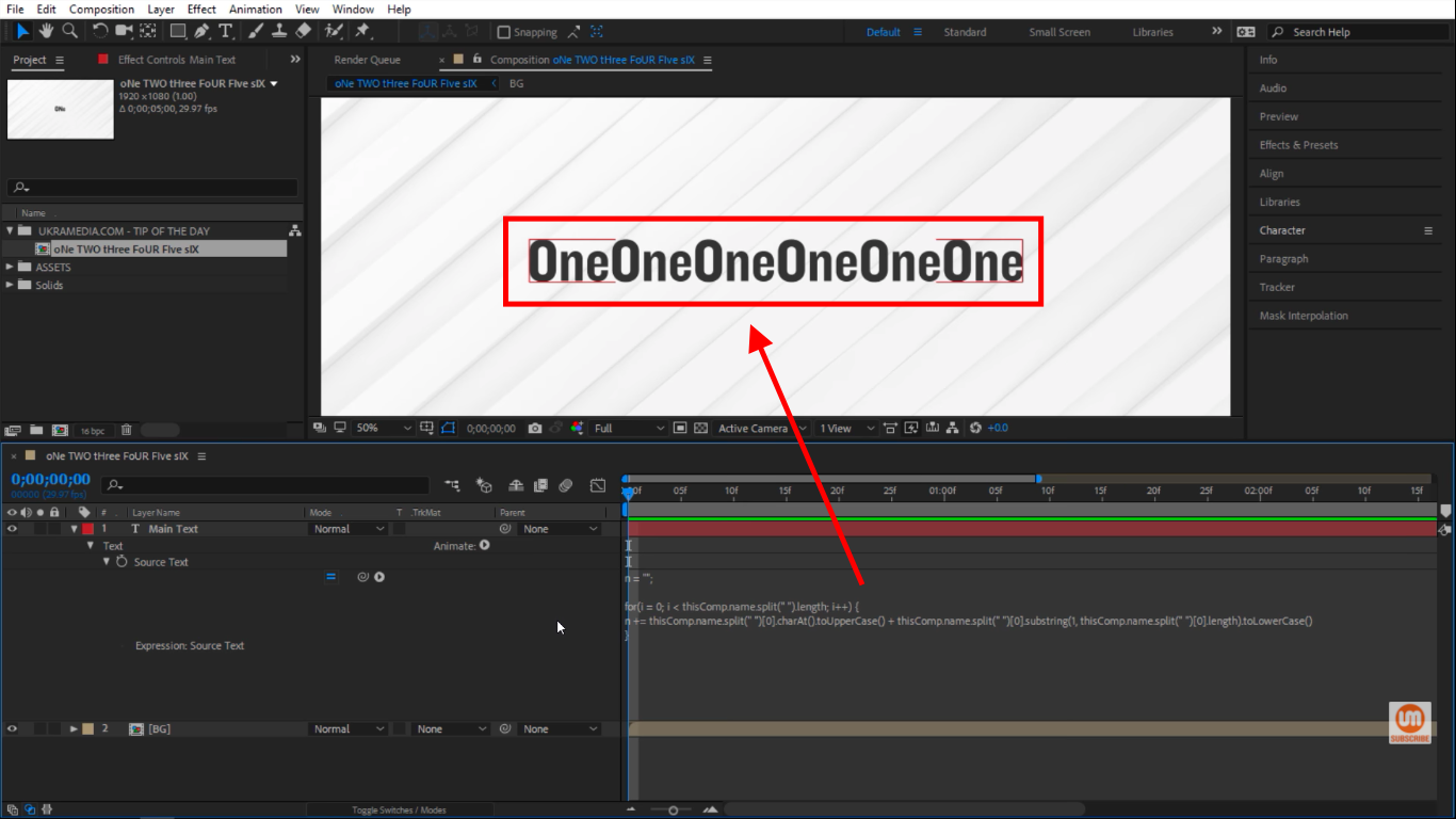 For Loop Statement In After Effects