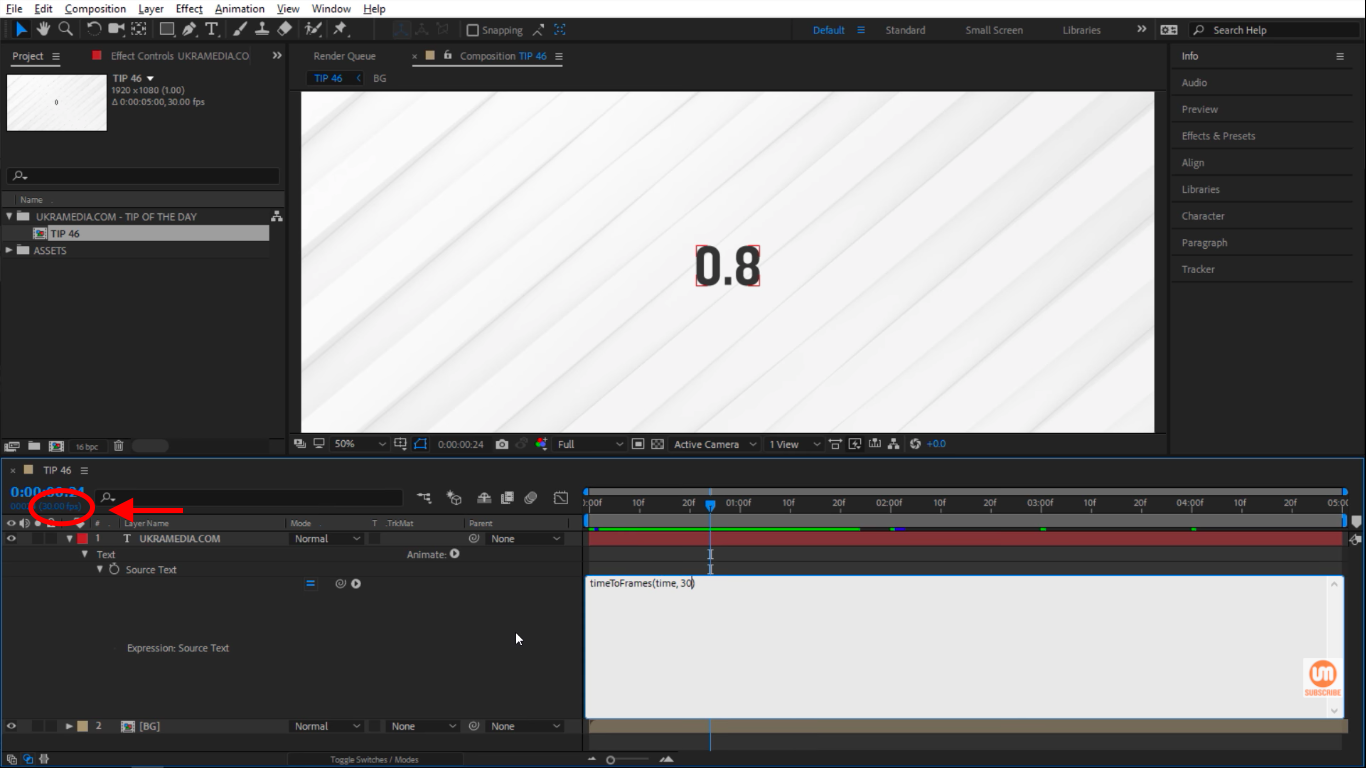 Frame rate in After Effects