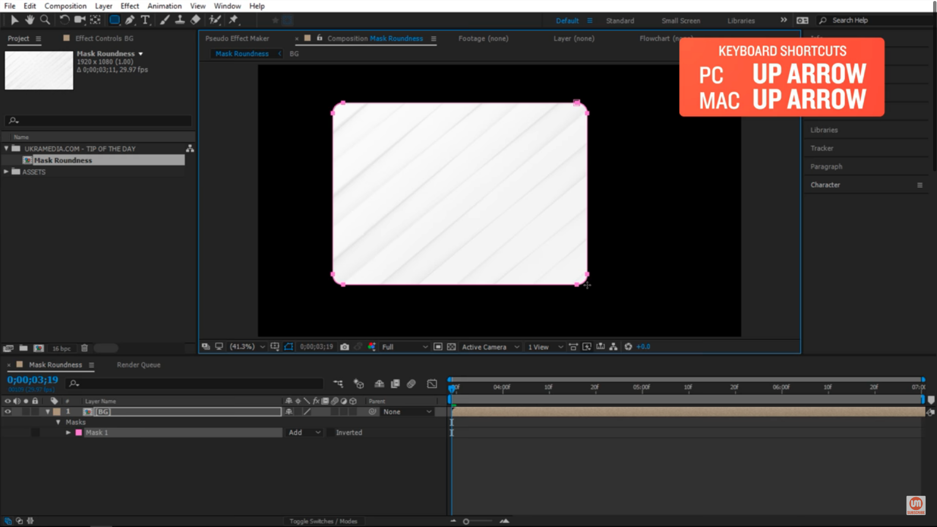Increase Shape Layer Roundness in After Effects