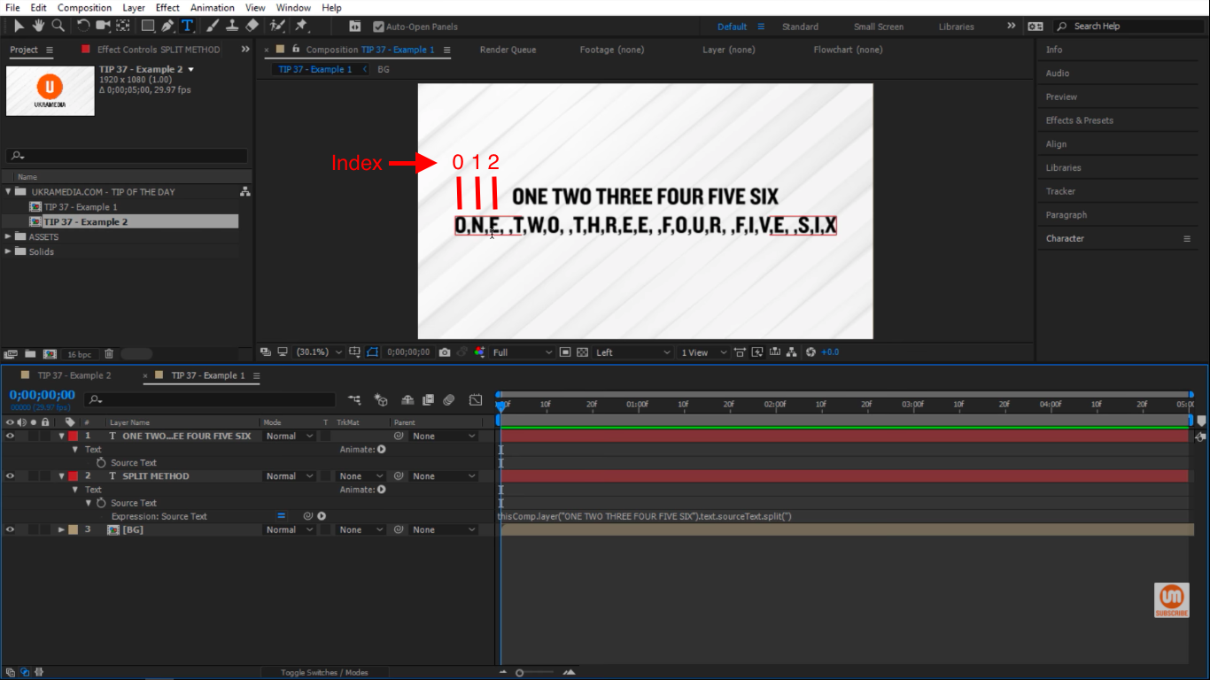 Index count in After Effects starts with 0