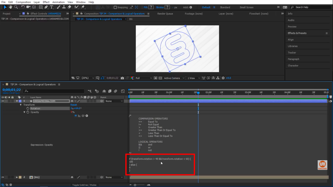 && Logical Operator After Effects