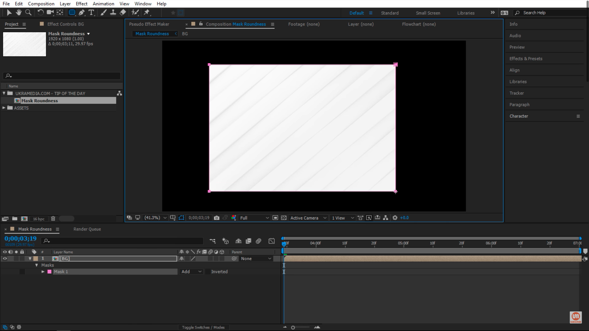 Make sharp edges in After Effects