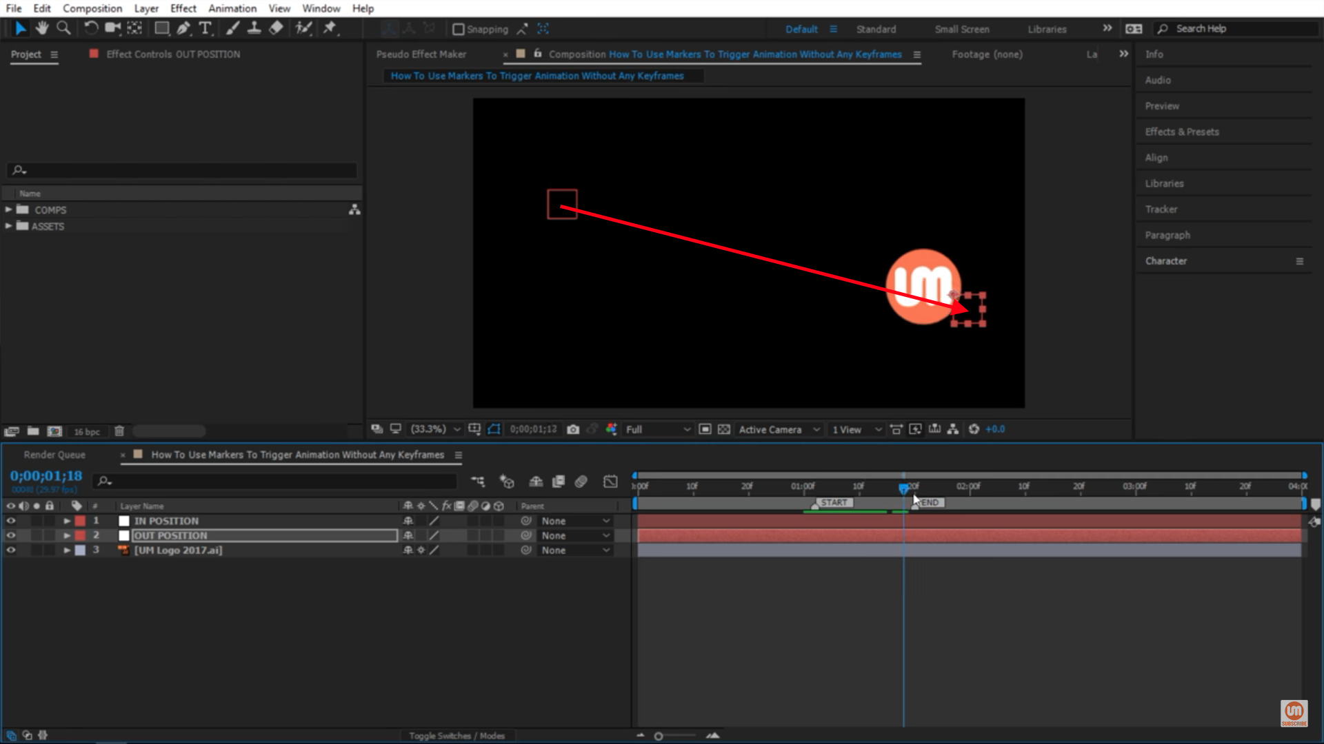 Moving from In to Out Position in After Effects