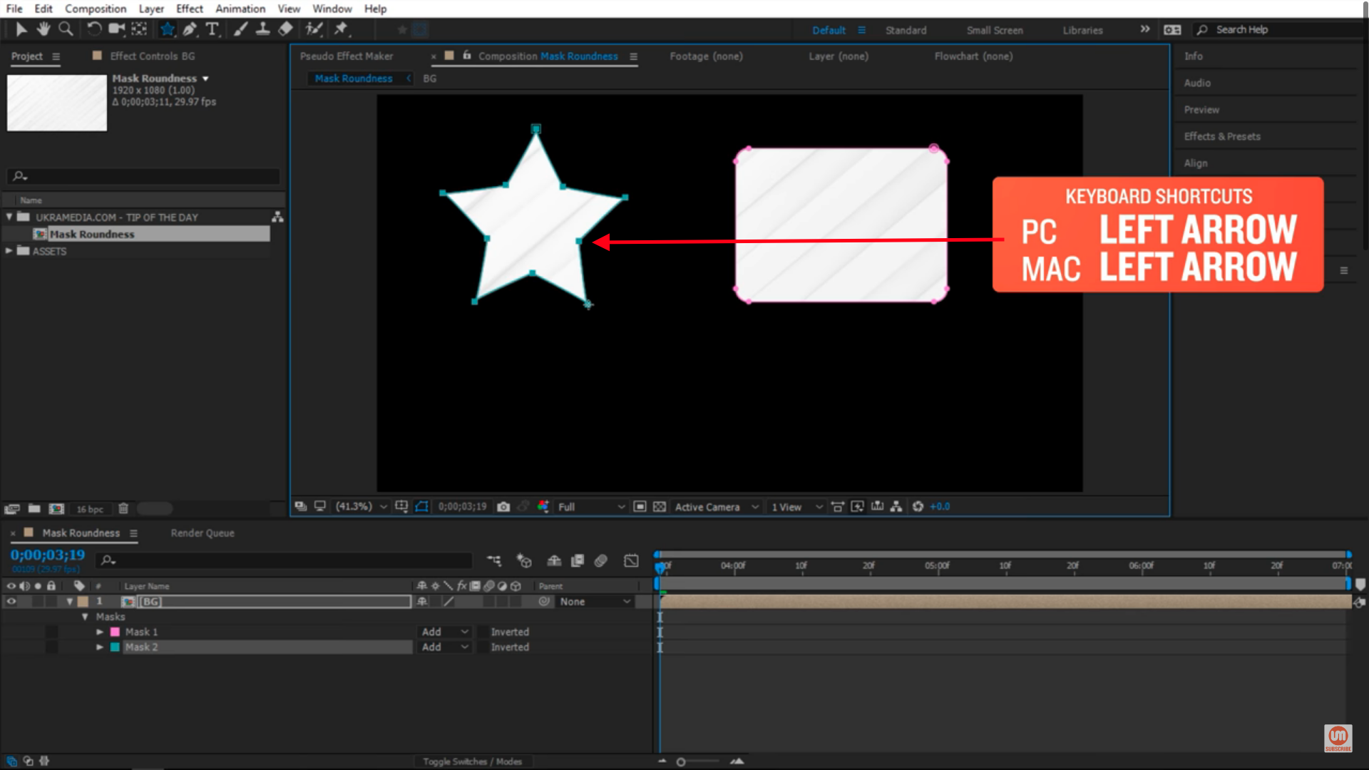 Not rounded star after effects