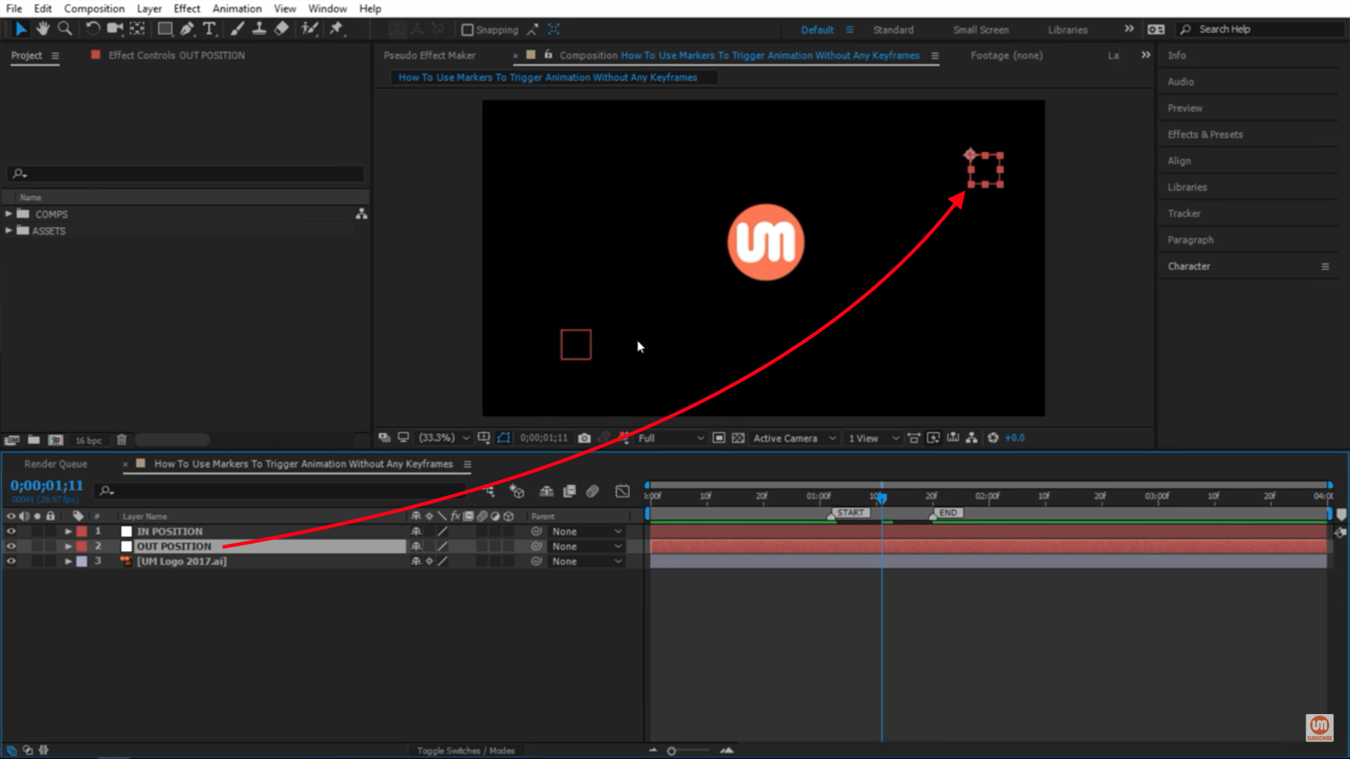 Out Position in After Effects