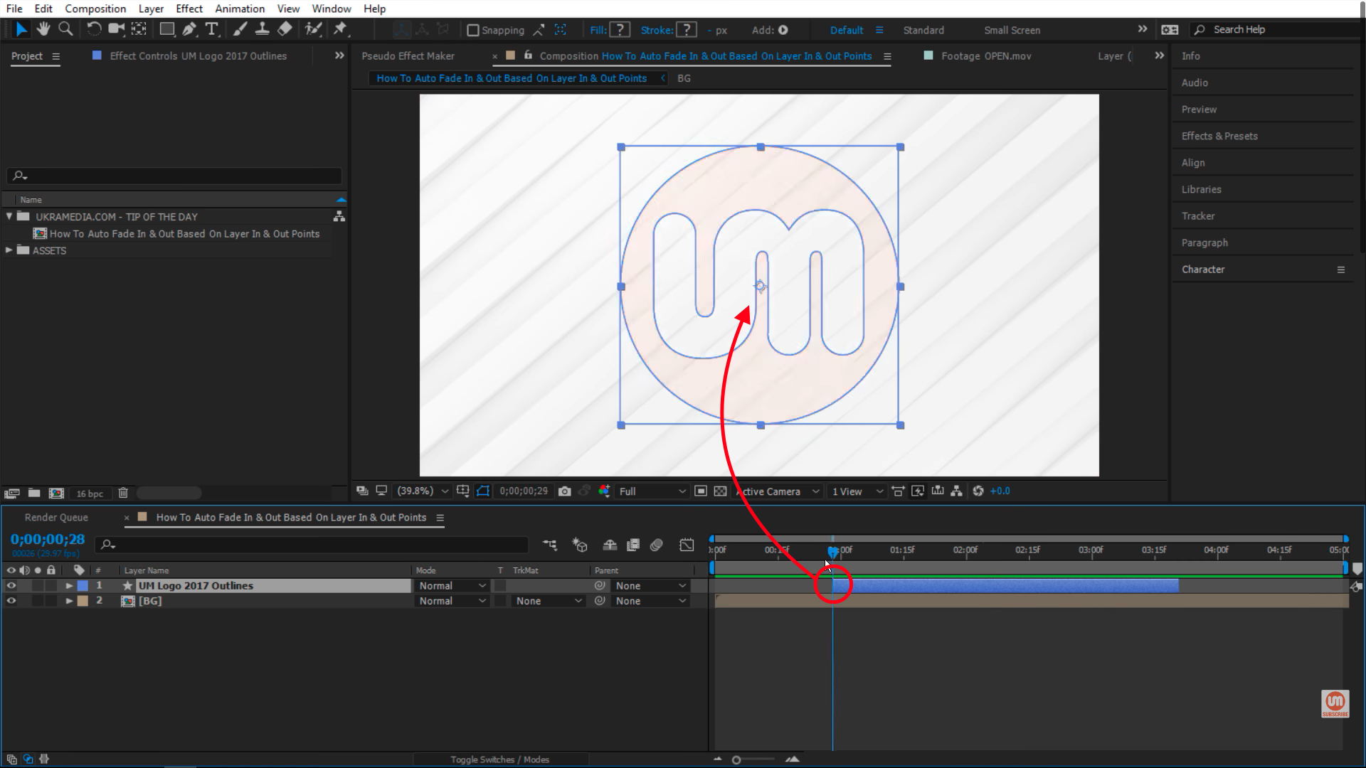 Passing in point in After Effects
