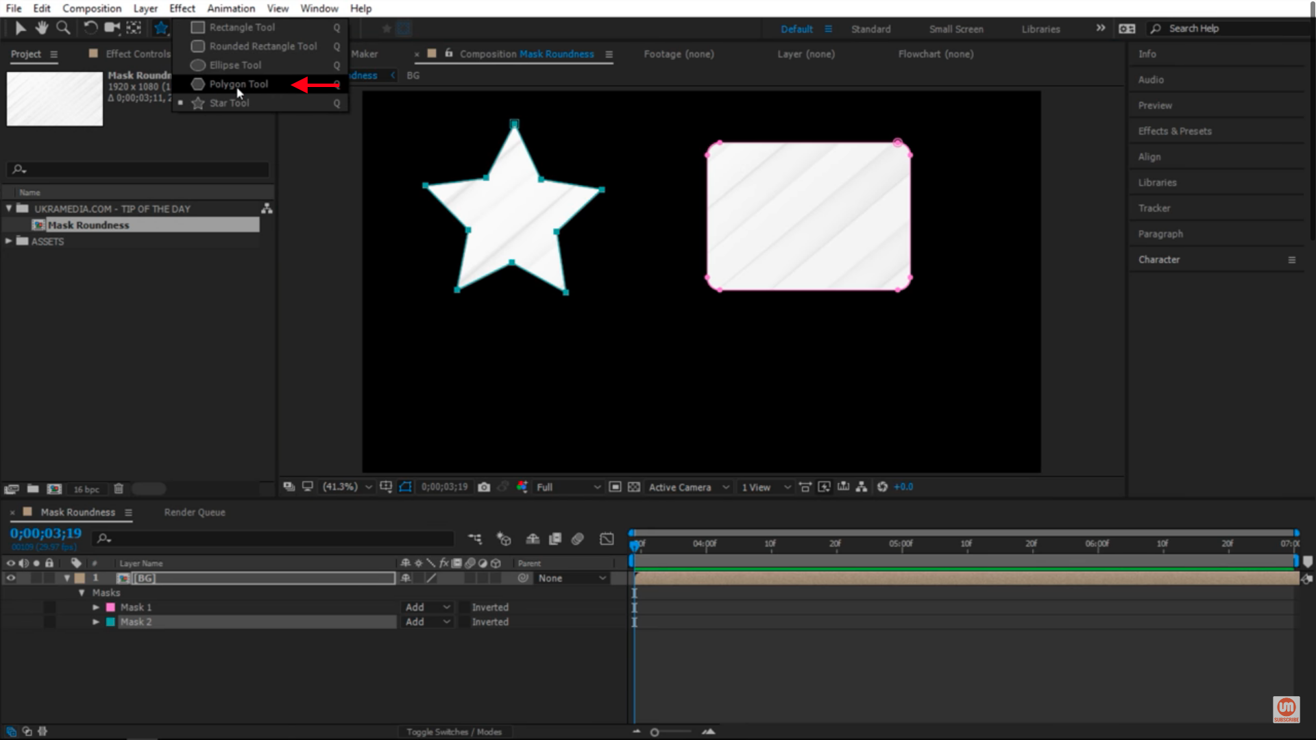 Polygon tool in after effects