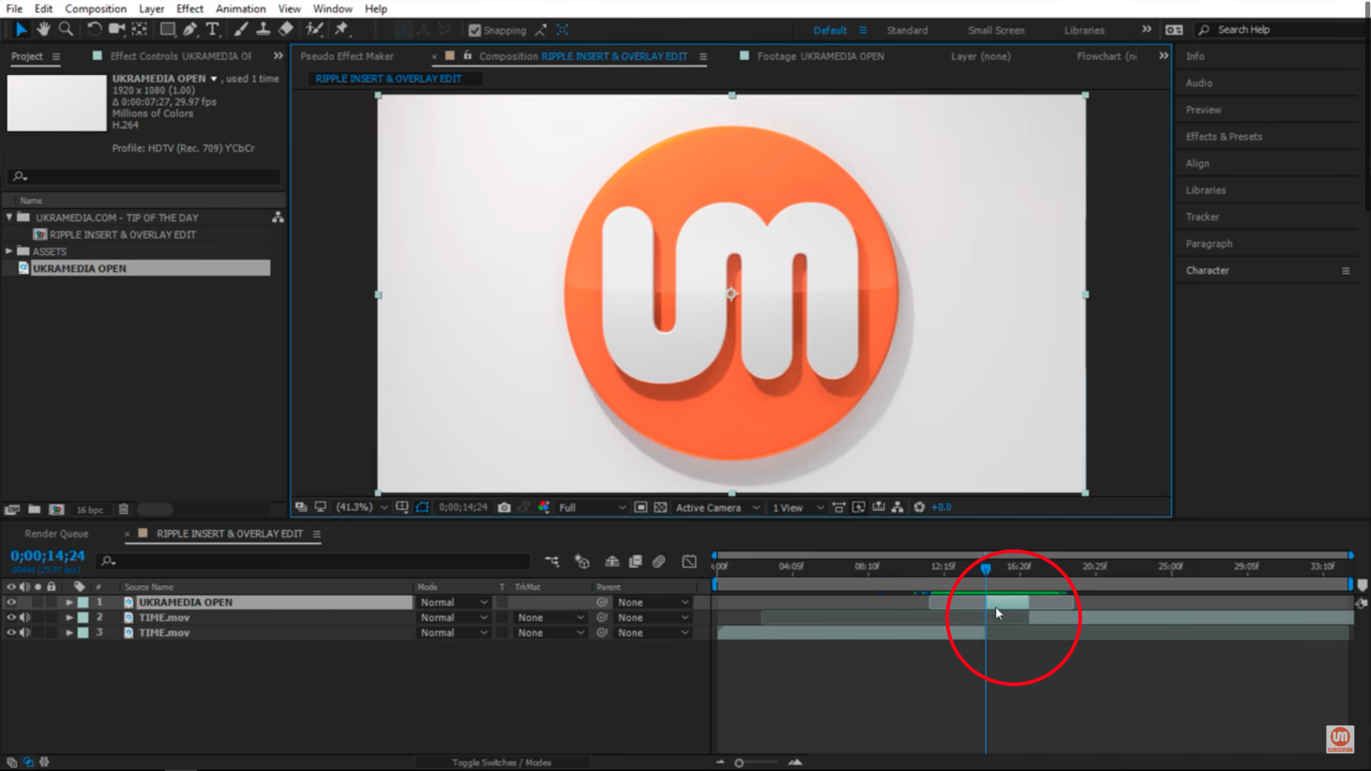 Ripple Insert Edit in Adobe After Effects