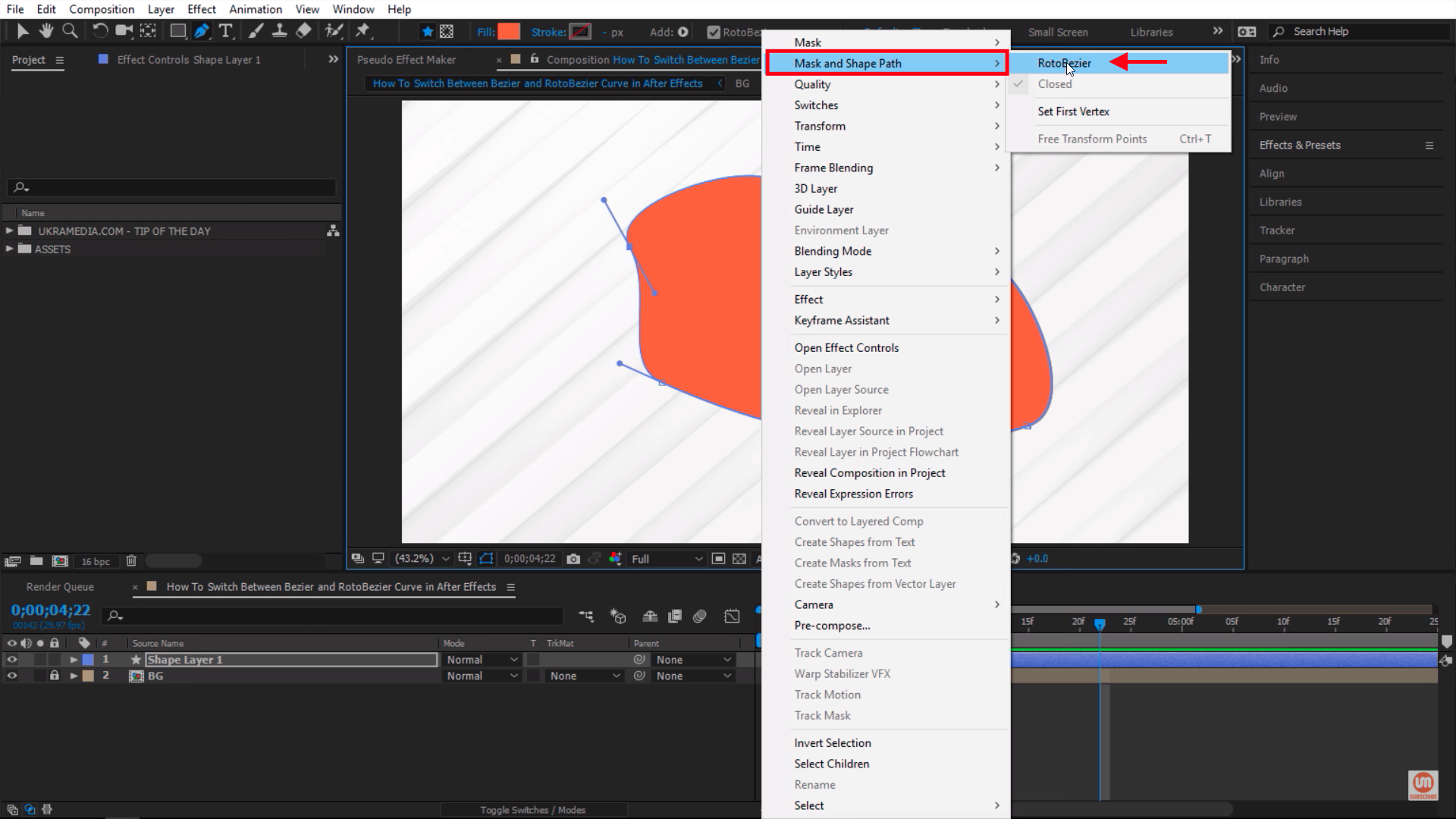 RotoBezier After Effects