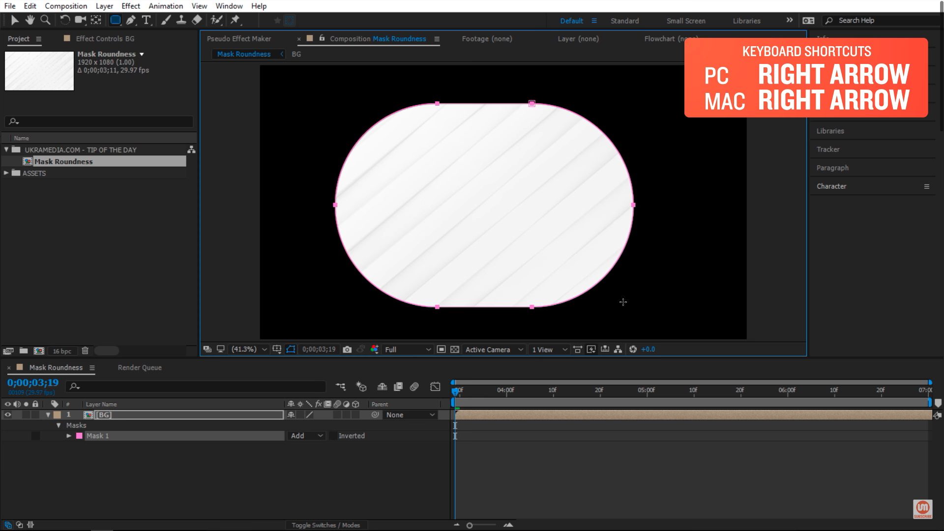 Round edges after effects