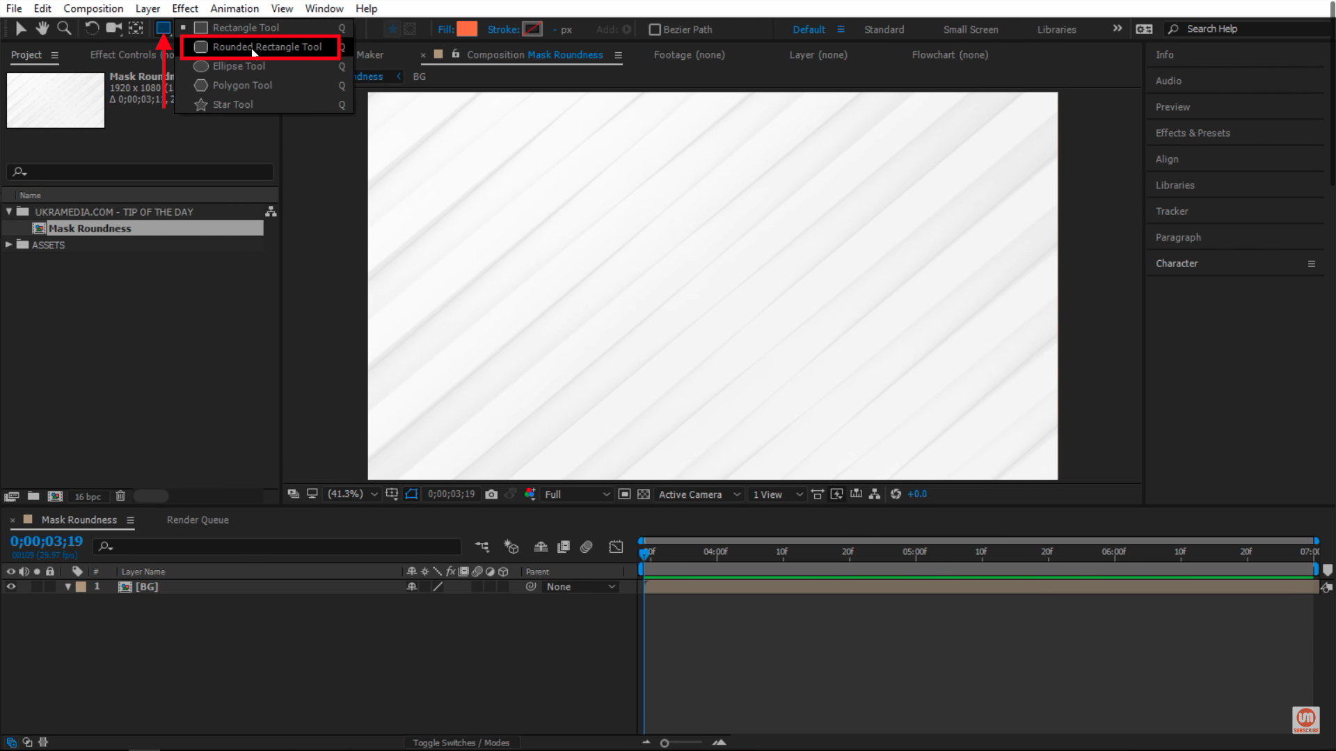 Rounded Rectangle Tool in After Effects
