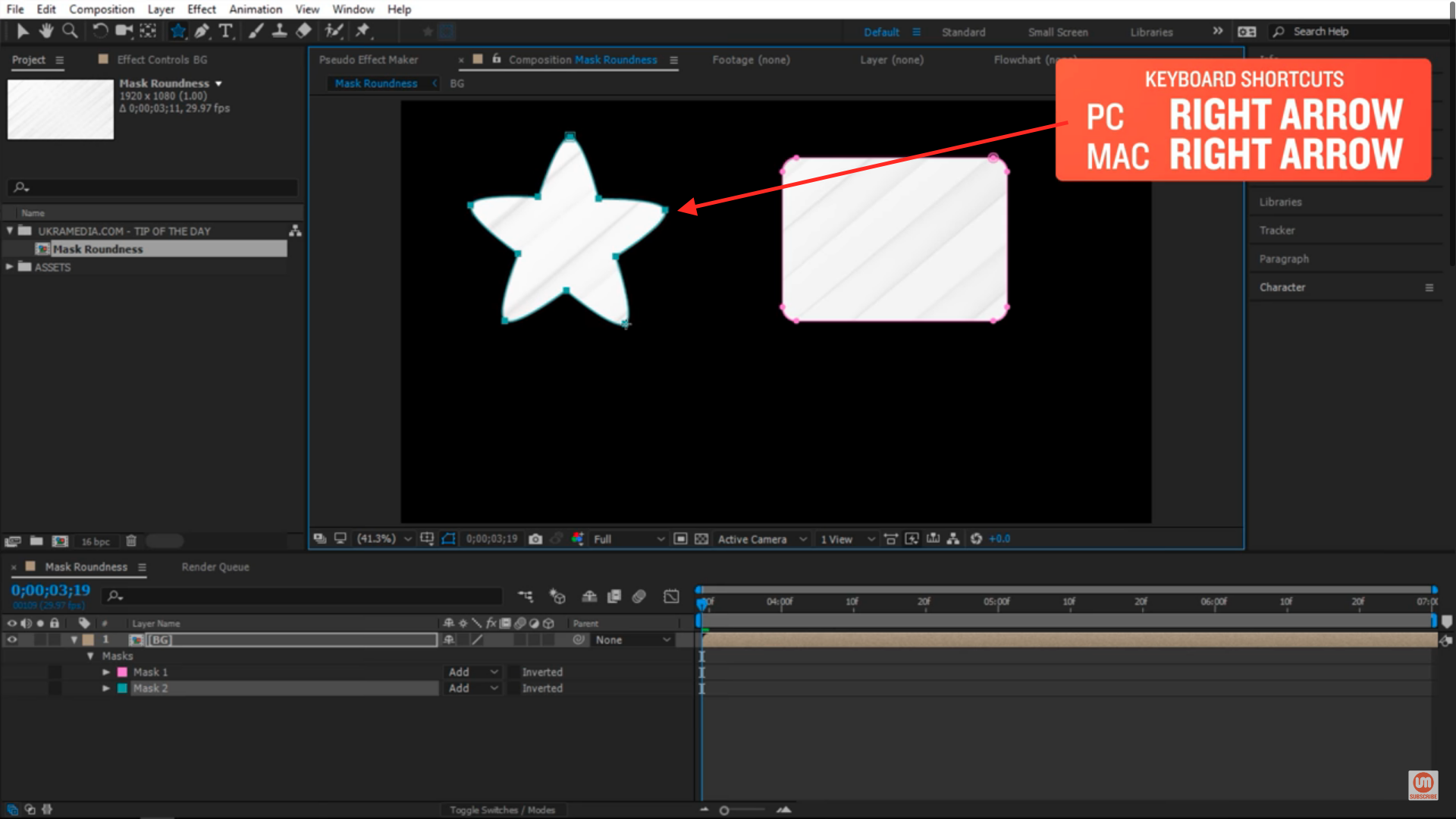 Rounded star after effects