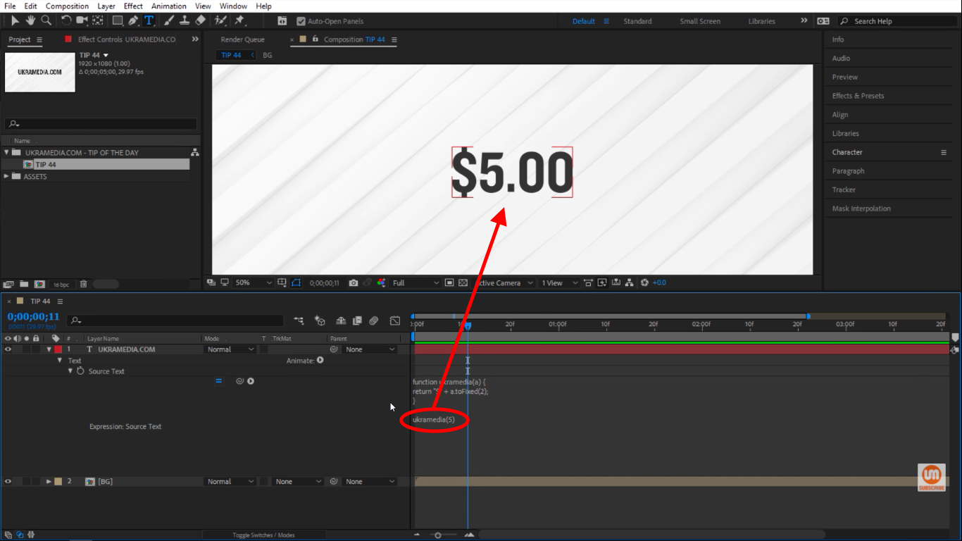 Running a function in After Effects