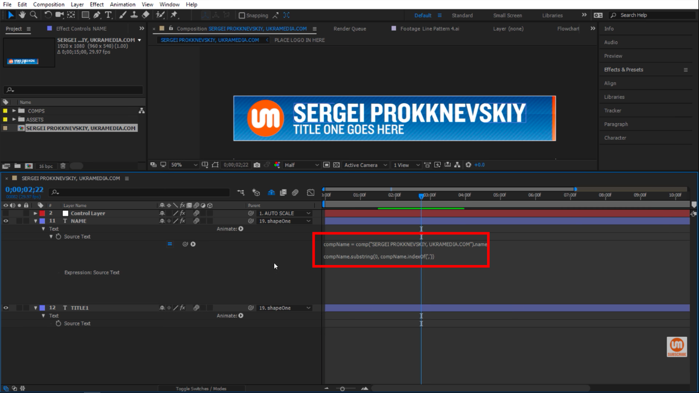 Setting up indexOf in After Effects