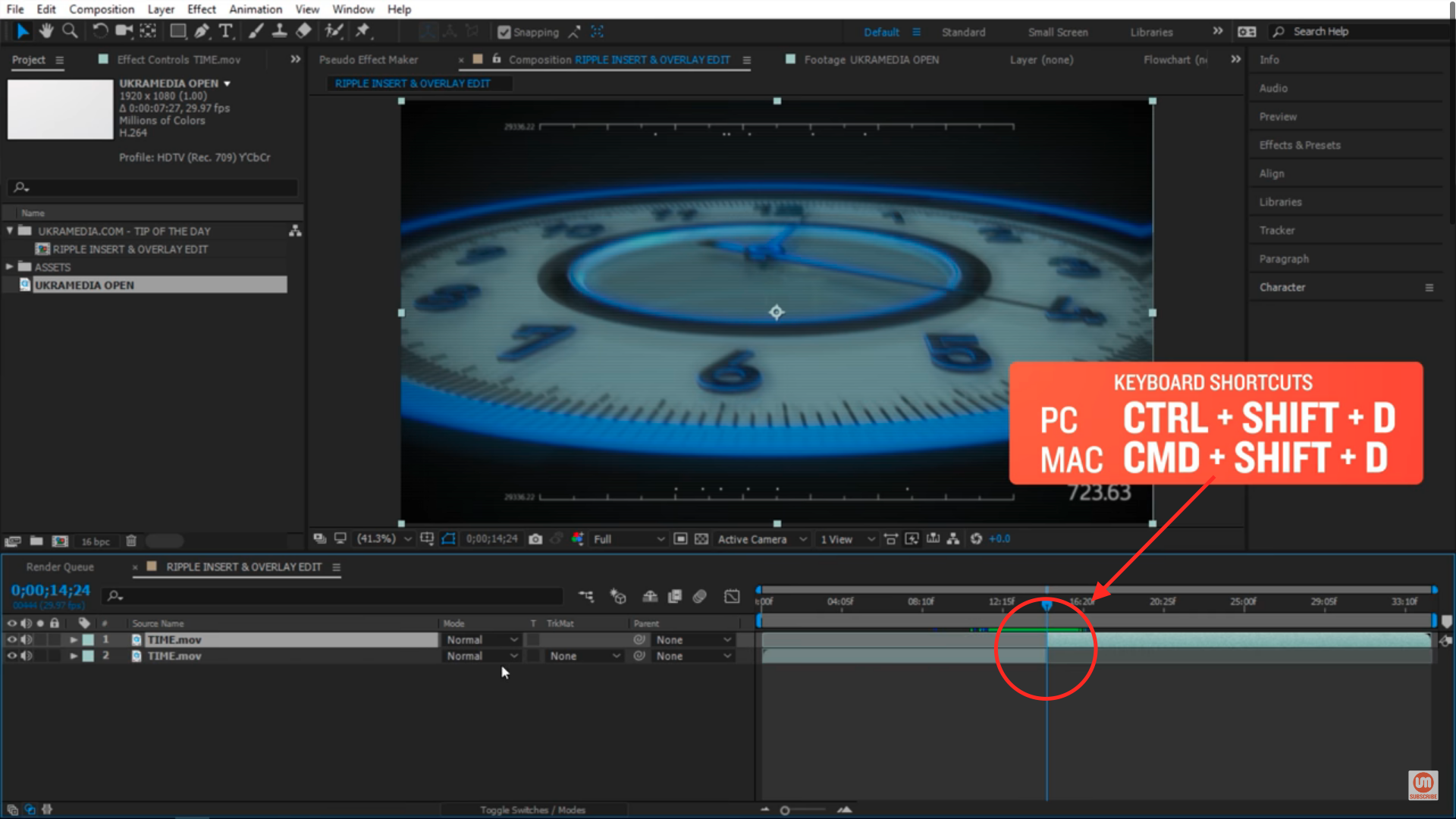 Splitting layers in After Effects 1
