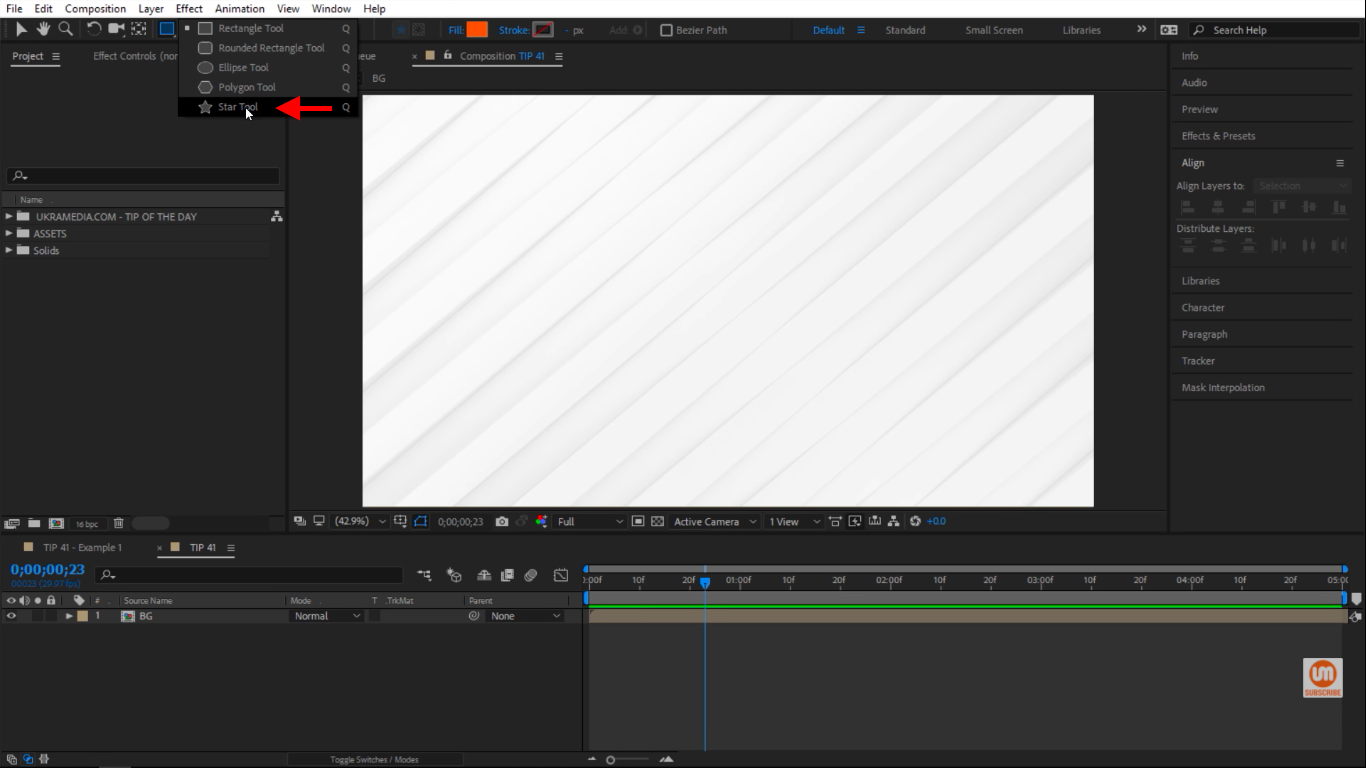 Star Tool in After Effects